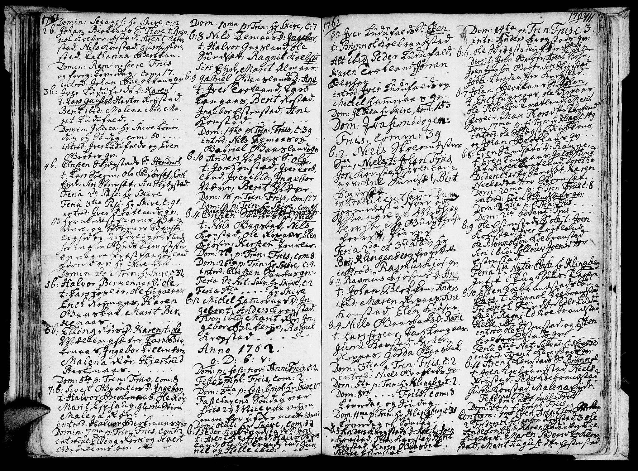 SAT, Ministerialprotokoller, klokkerbøker og fødselsregistre - Sør-Trøndelag, 691/L1060: Ministerialbok nr. 691A01 /4, 1740-1767, s. 111