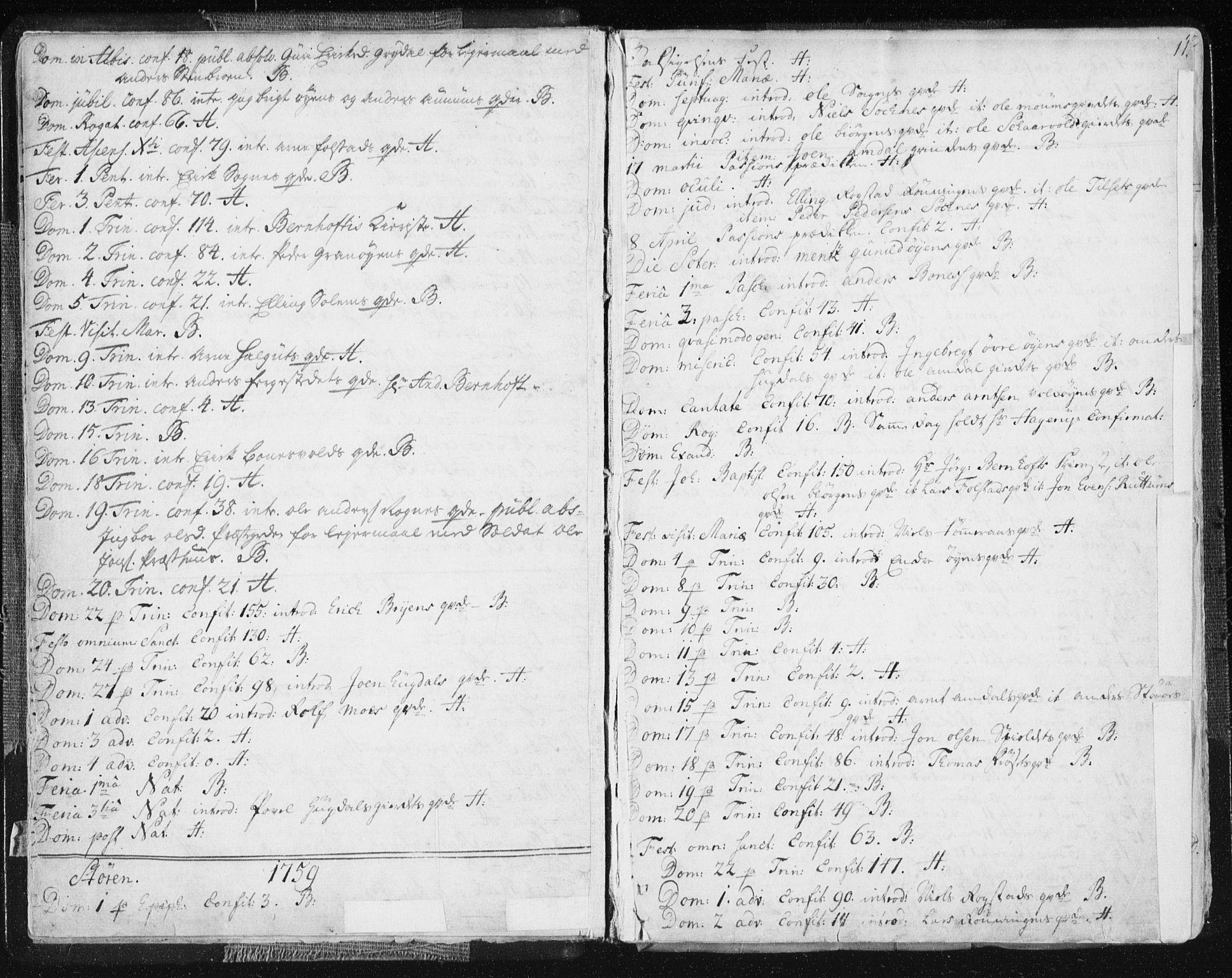 SAT, Ministerialprotokoller, klokkerbøker og fødselsregistre - Sør-Trøndelag, 687/L0991: Ministerialbok nr. 687A02, 1747-1790, s. 11