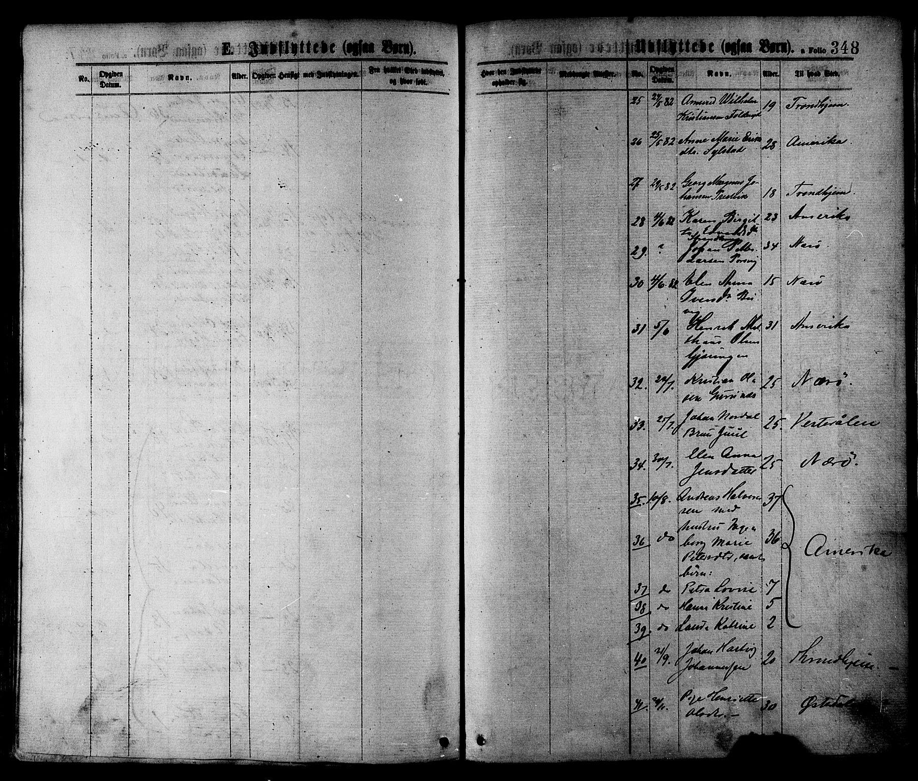 SAT, Ministerialprotokoller, klokkerbøker og fødselsregistre - Nord-Trøndelag, 780/L0642: Ministerialbok nr. 780A07 /1, 1874-1885, s. 348