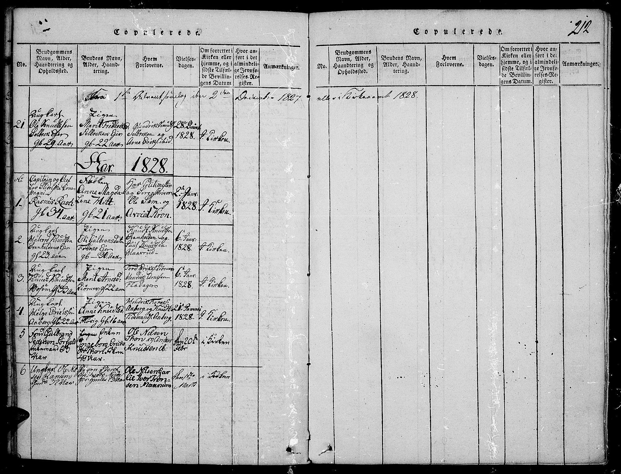 SAH, Nord-Aurdal prestekontor, Ministerialbok nr. 2, 1816-1828, s. 212