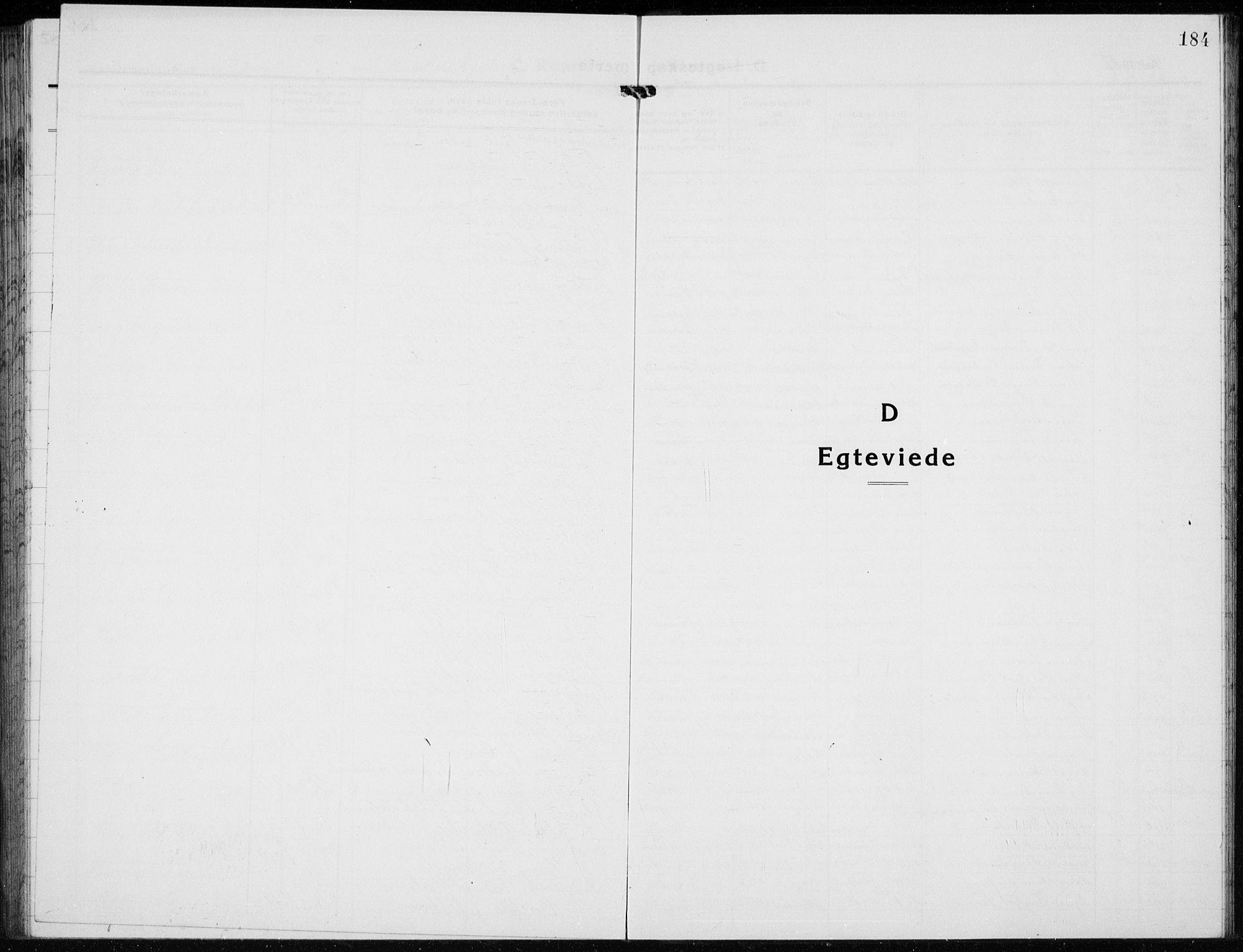 SAH, Jevnaker prestekontor, Klokkerbok nr. 5, 1919-1934, s. 184