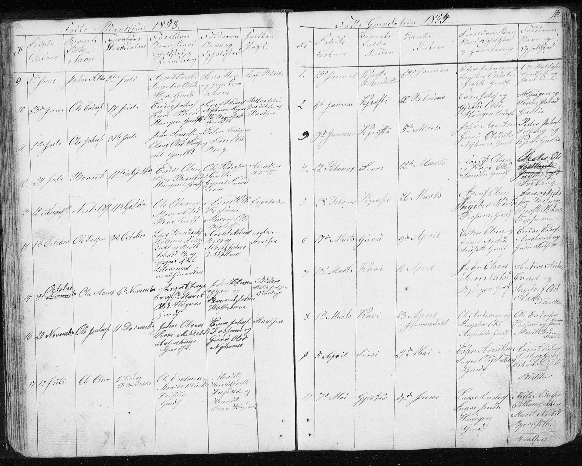 SAT, Ministerialprotokoller, klokkerbøker og fødselsregistre - Sør-Trøndelag, 689/L1043: Klokkerbok nr. 689C02, 1816-1892, s. 105