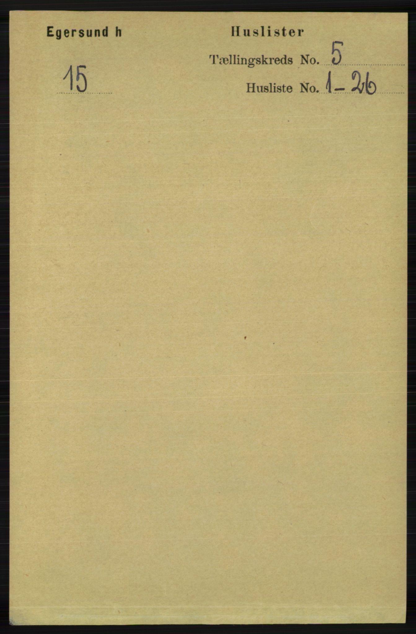 RA, Folketelling 1891 for 1116 Eigersund herred, 1891, s. 2016