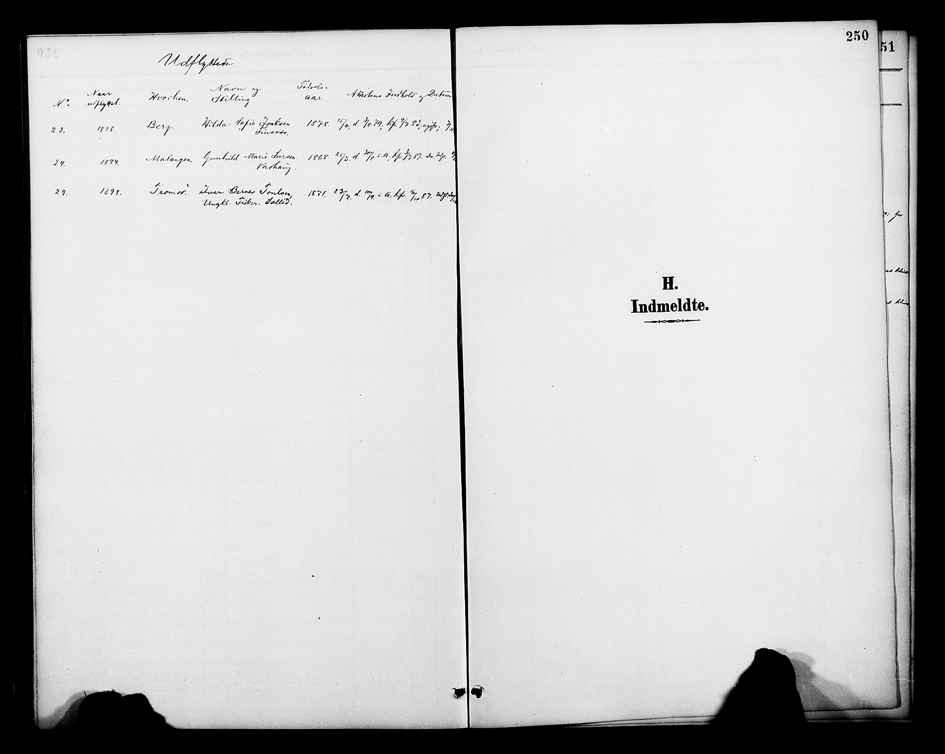 SATØ, Lenvik sokneprestembete, H/Ha: Ministerialbok nr. 13, 1890-1898, s. 249b