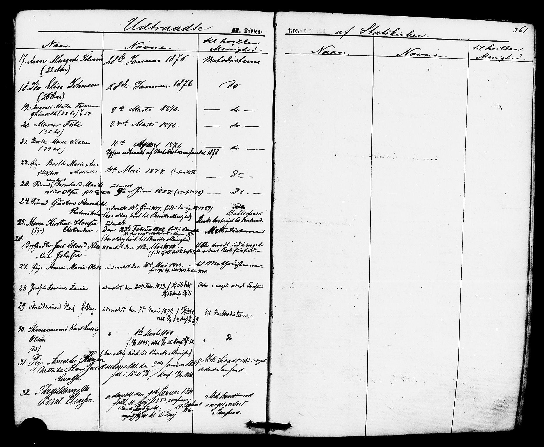 SAKO, Brevik kirkebøker, F/Fa/L0006: Ministerialbok nr. 6, 1866-1881, s. 361