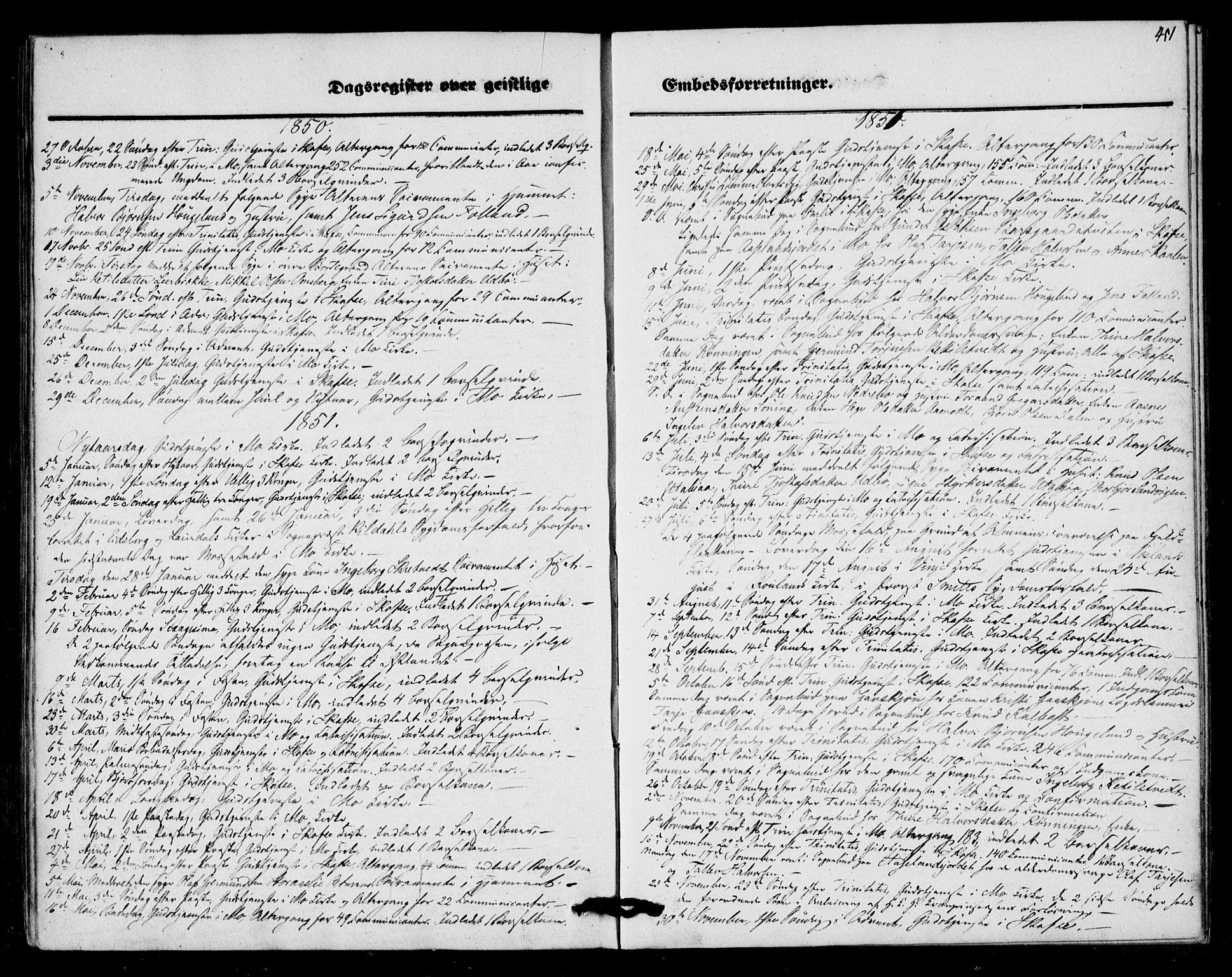 SAKO, Mo kirkebøker, F/Fa/L0005: Ministerialbok nr. I 5, 1844-1864, s. 451