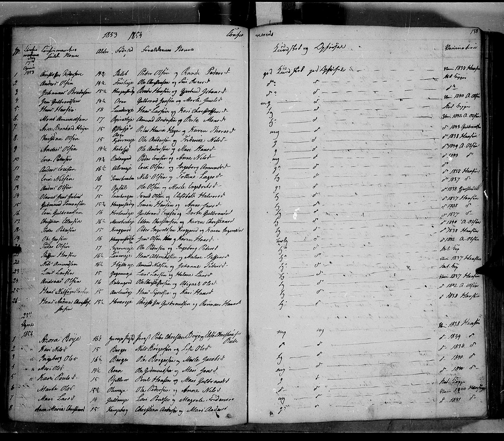 SAH, Jevnaker prestekontor, Ministerialbok nr. 6, 1837-1857, s. 138