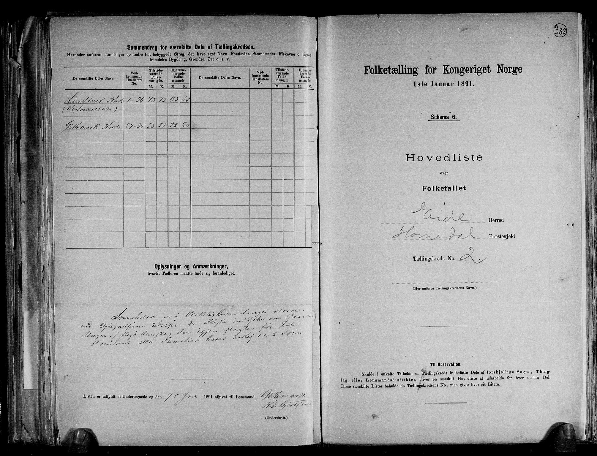 RA, Folketelling 1891 for 0925 Eide herred, 1891, s. 7