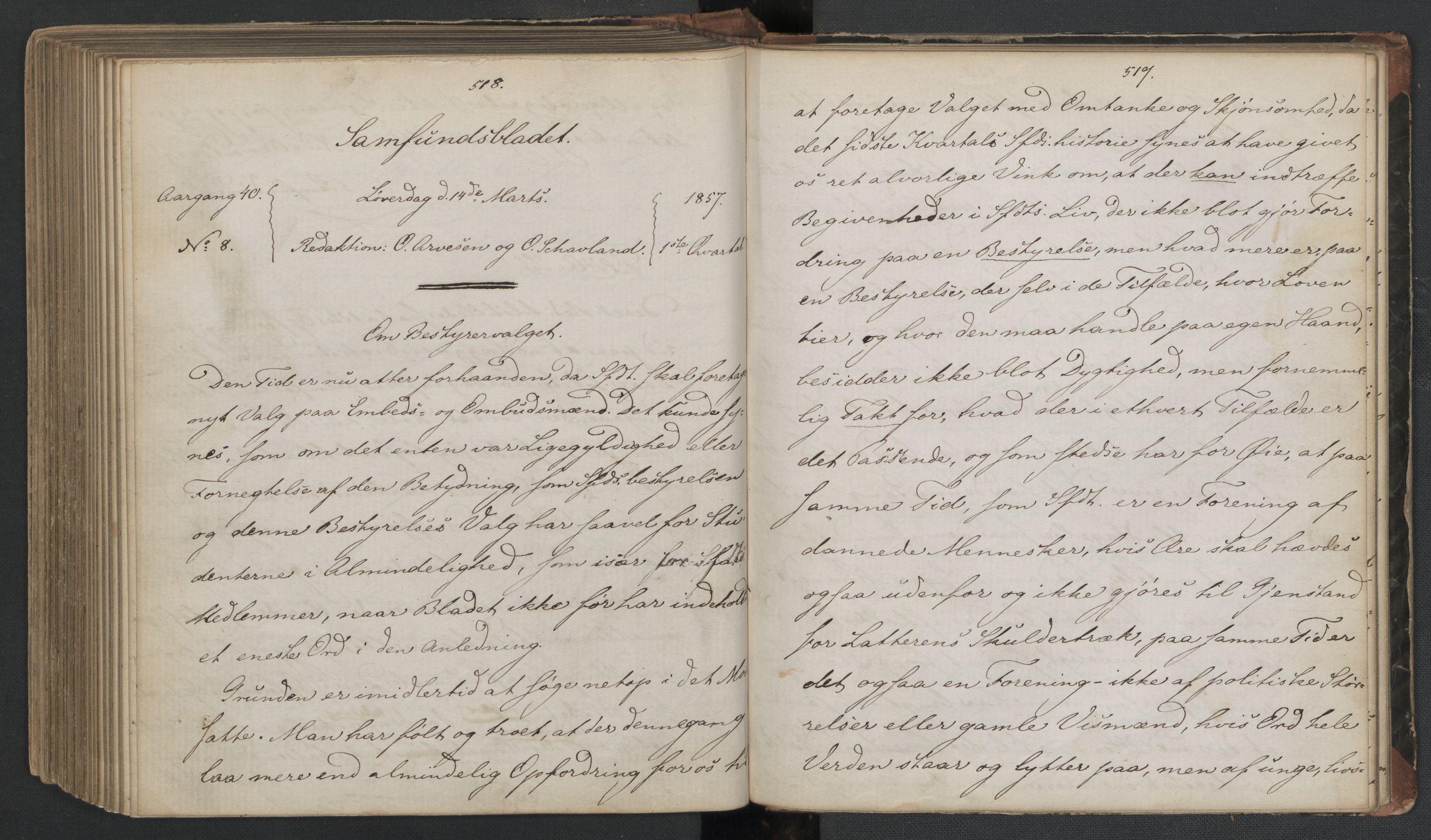 RA, Det Norske Studentersamfund, X/Xa/L0006, 1856-1857, s. 263