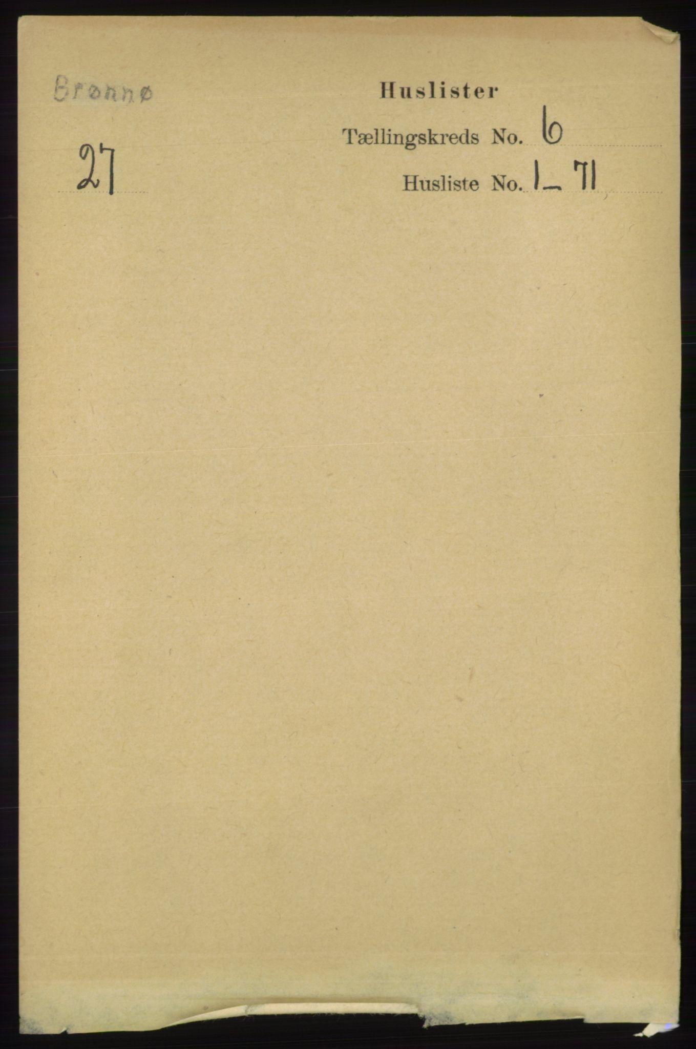RA, Folketelling 1891 for 1814 Brønnøy herred, 1891, s. 3180