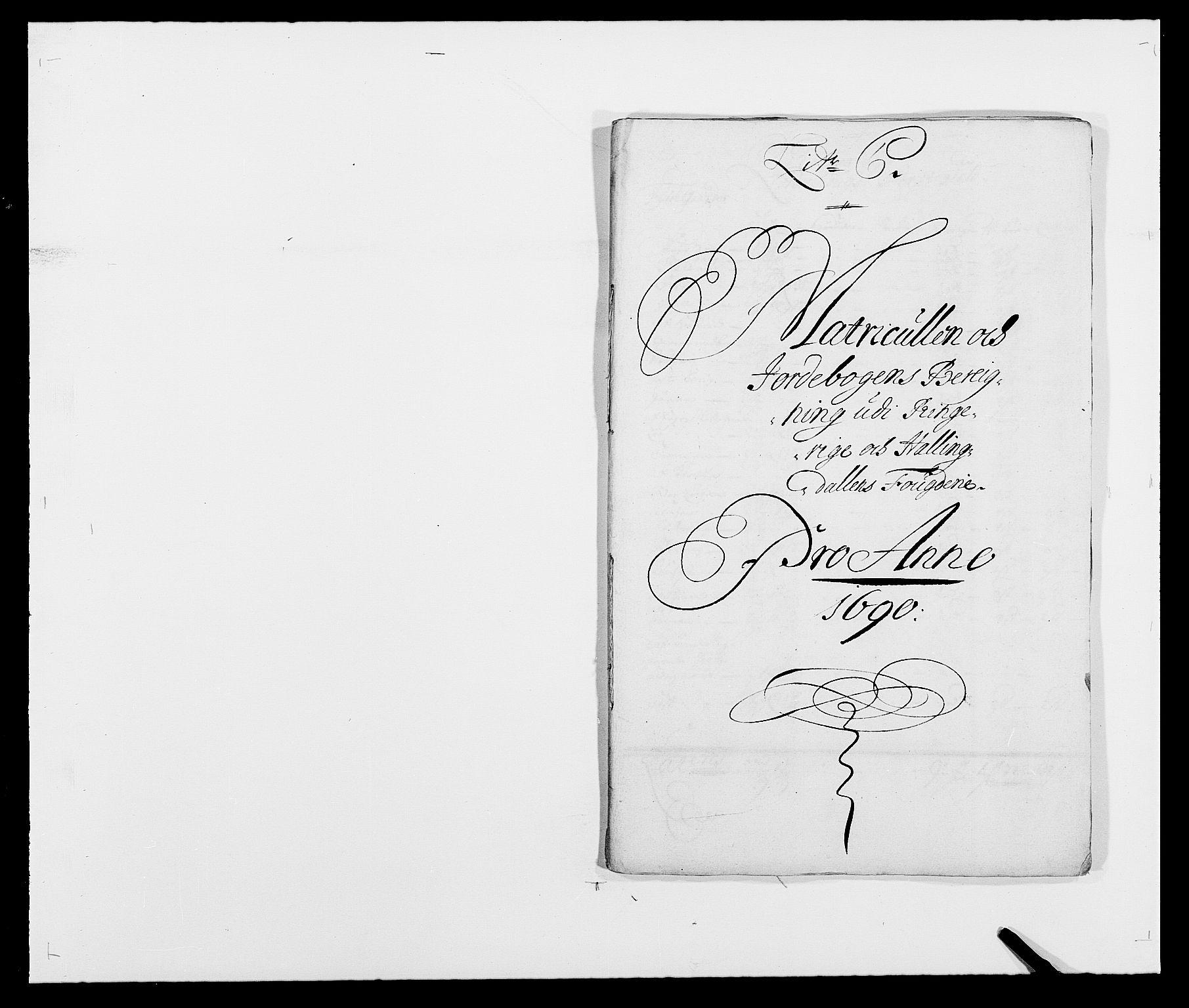 RA, Rentekammeret inntil 1814, Reviderte regnskaper, Fogderegnskap, R21/L1448: Fogderegnskap Ringerike og Hallingdal, 1690-1692, s. 23