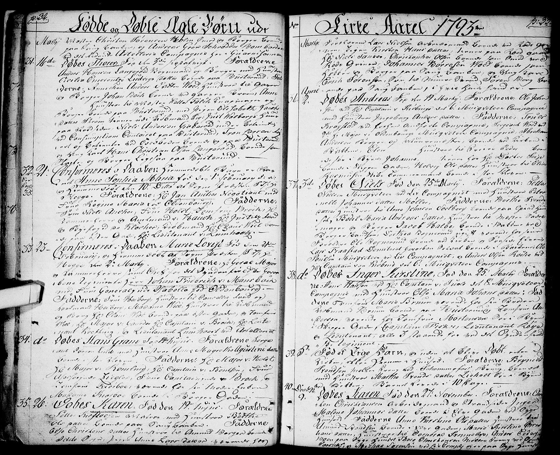 SAO, Halden prestekontor Kirkebøker, F/Fa/L0002: Ministerialbok nr. I 2, 1792-1812, s. 32-33