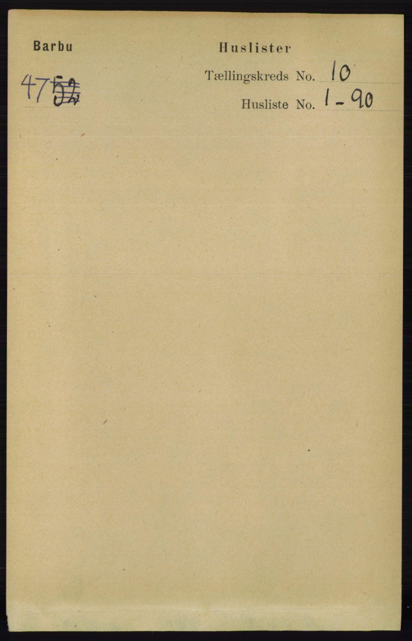 RA, Folketelling 1891 for 0990 Barbu herred, 1891, s. 7799