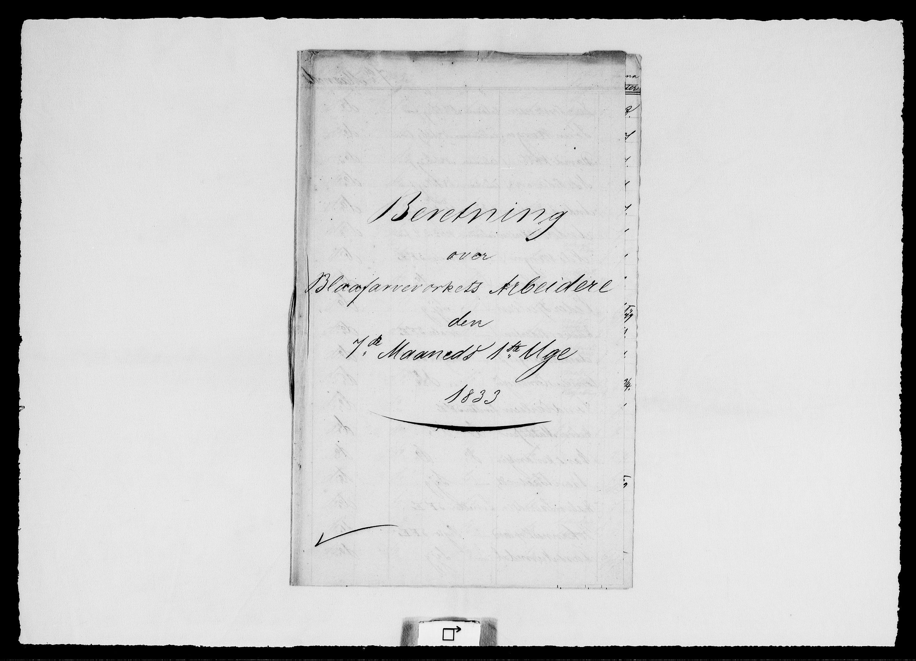 RA, Modums Blaafarveværk, G/Ge/L0322, 1833-1835, s. 2