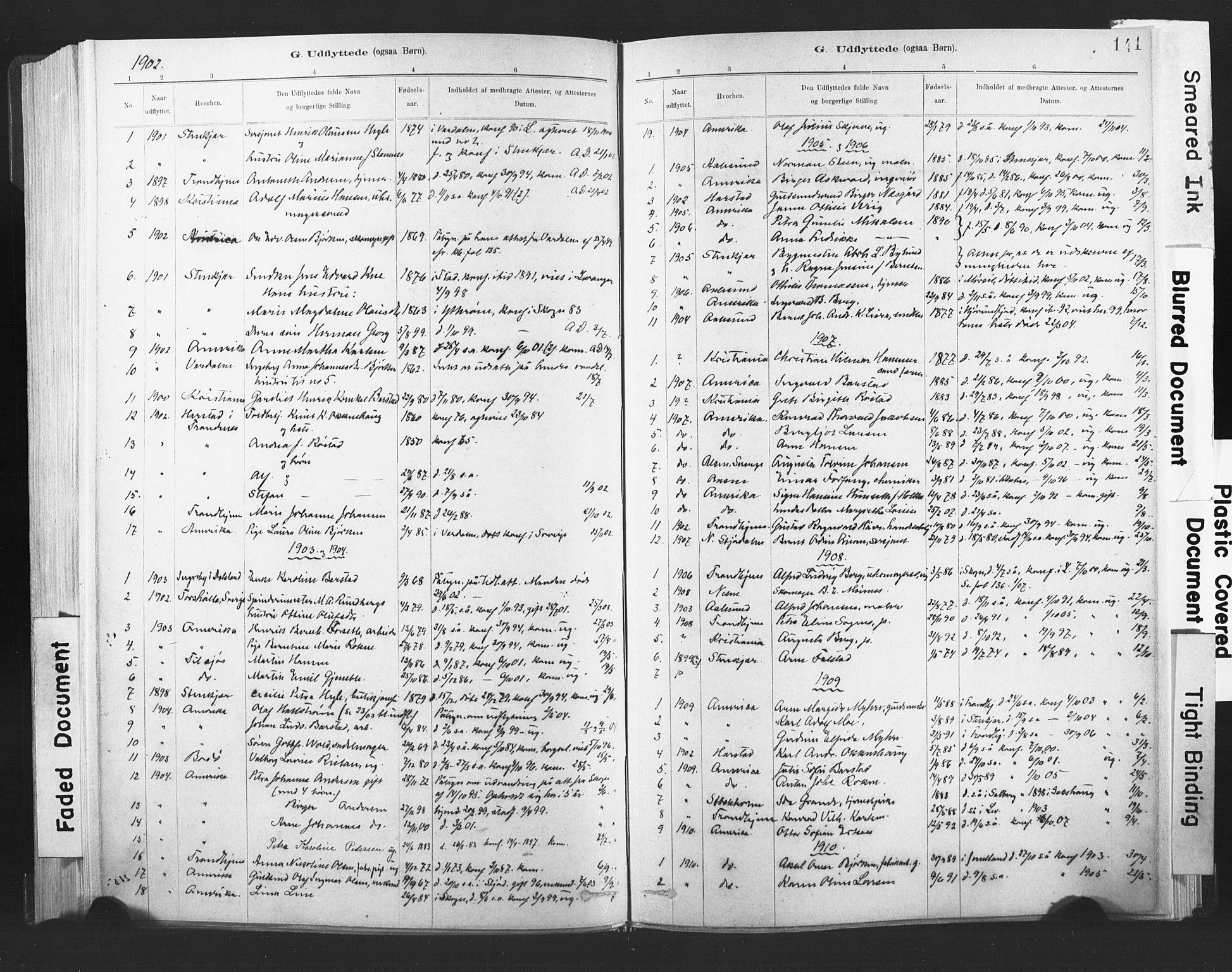 SAT, Ministerialprotokoller, klokkerbøker og fødselsregistre - Nord-Trøndelag, 720/L0189: Ministerialbok nr. 720A05, 1880-1911, s. 141