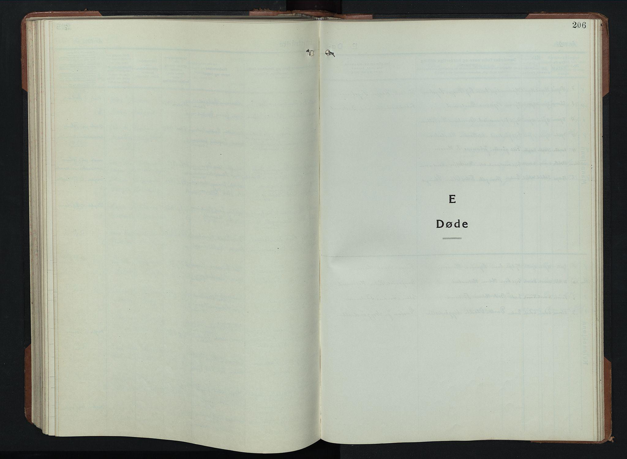 SAH, Balke prestekontor, Klokkerbok nr. 2, 1929-1951, s. 206