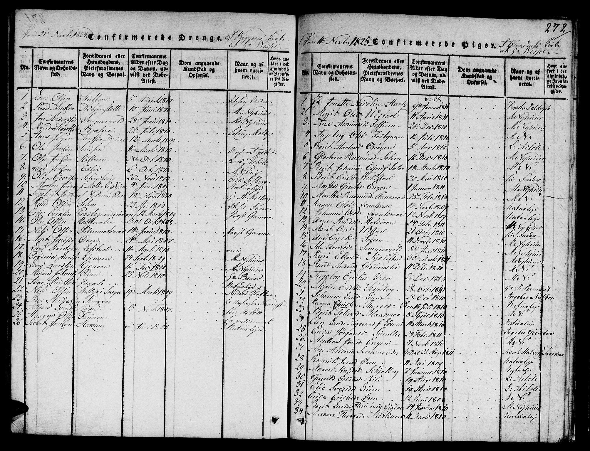 SAT, Ministerialprotokoller, klokkerbøker og fødselsregistre - Sør-Trøndelag, 668/L0803: Ministerialbok nr. 668A03, 1800-1826, s. 272