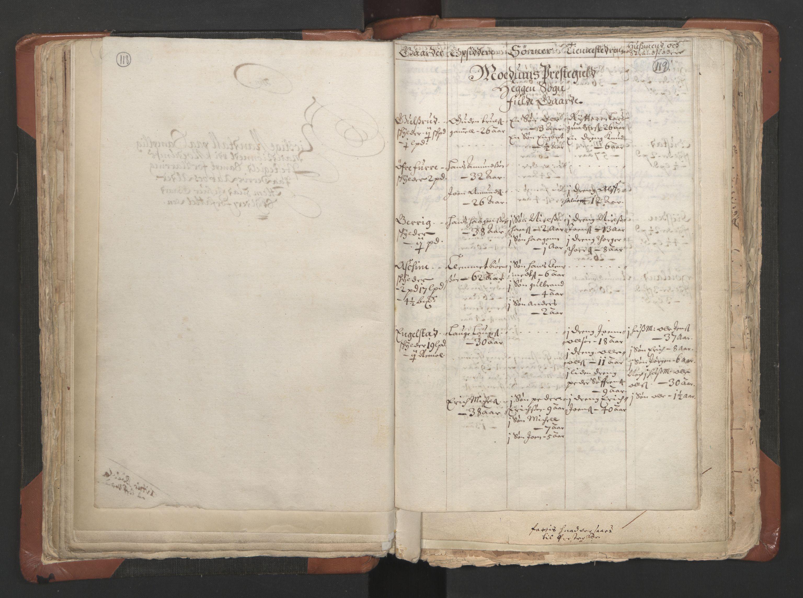 RA, Sogneprestenes manntall 1664-1666, nr. 9: Bragernes prosti, 1664-1666, s. 118-119