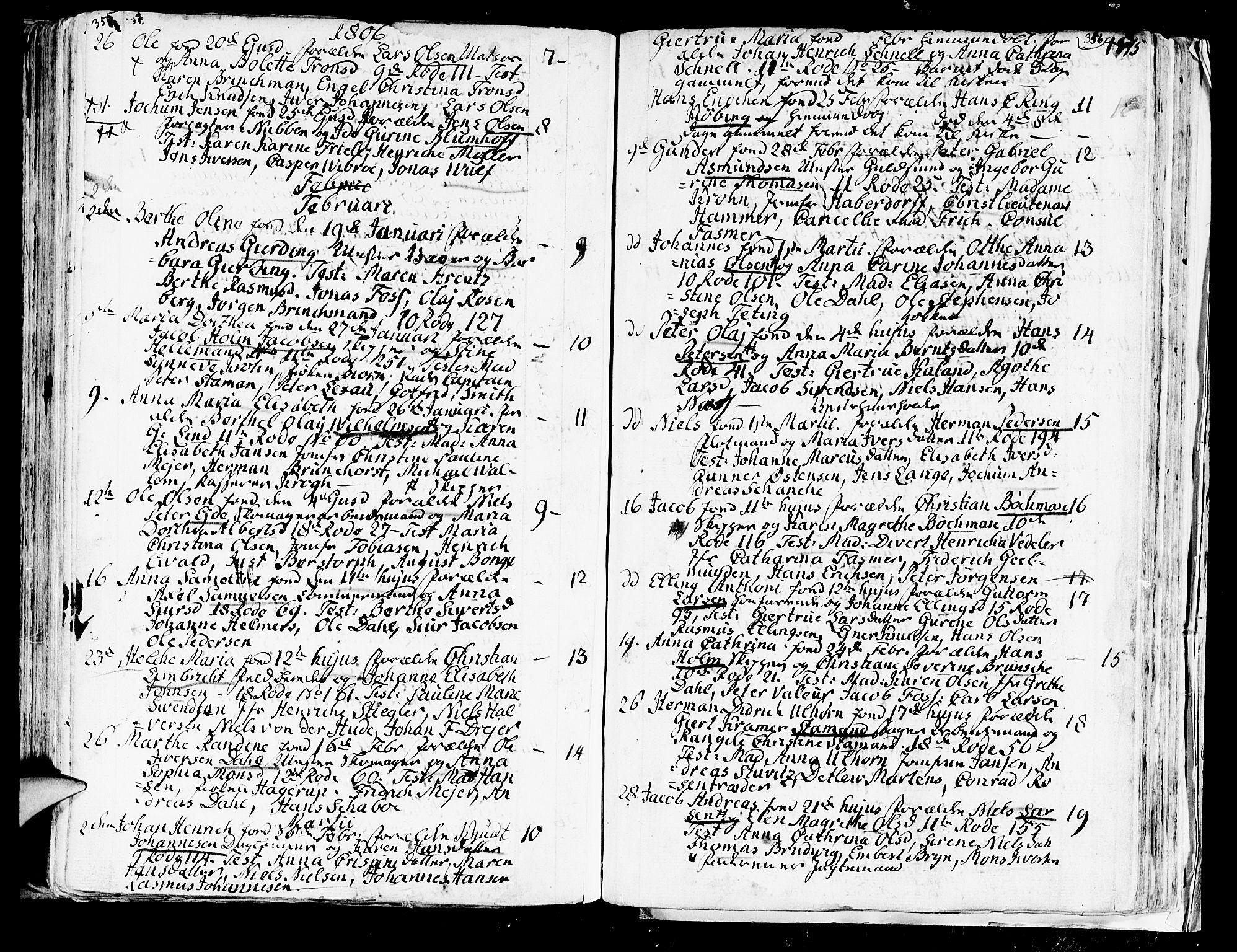 SAB, Domkirken sokneprestembete, H/Haa/L0004: Ministerialbok nr. A 4, 1763-1820, s. 355-356