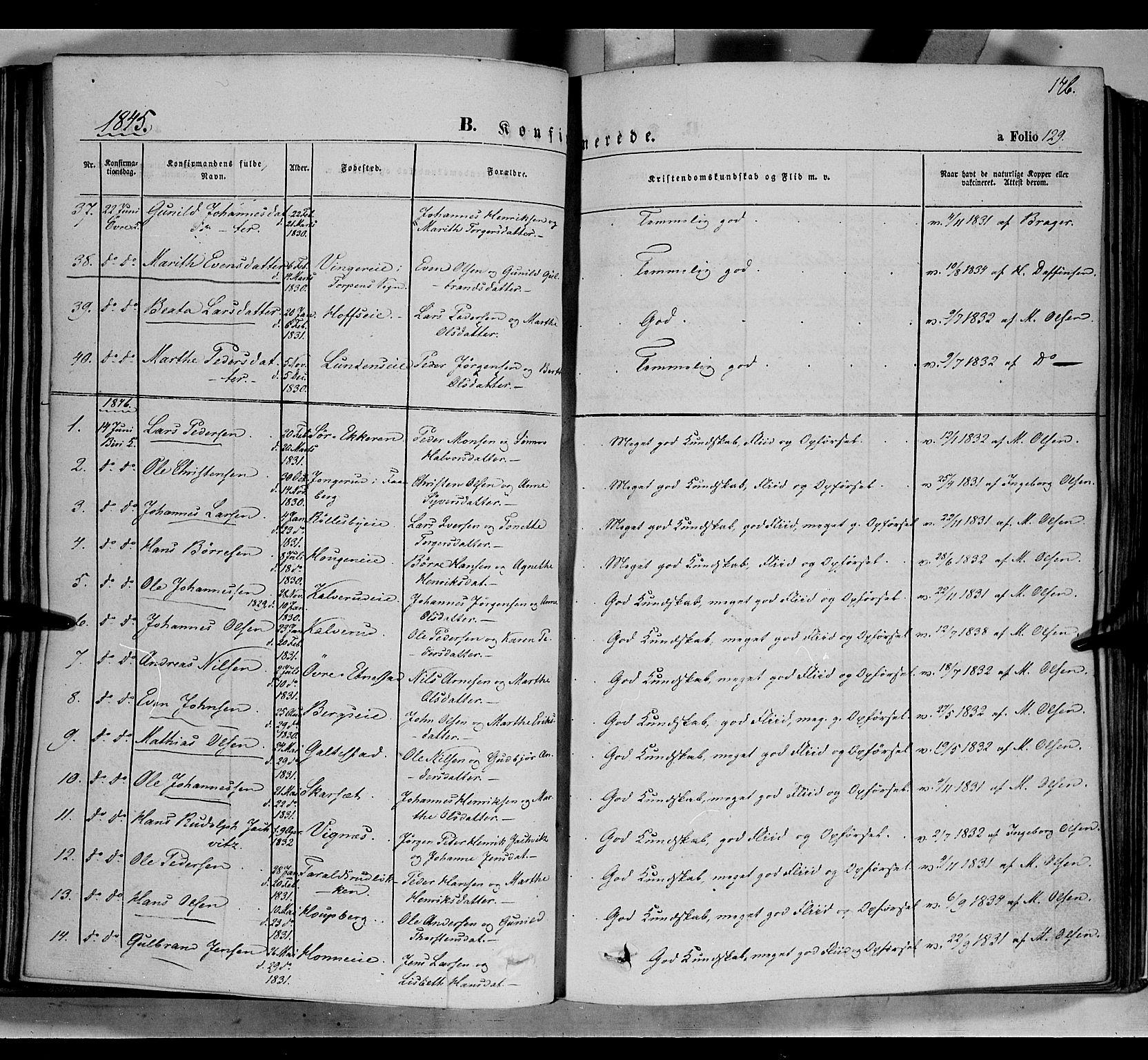 SAH, Biri prestekontor, Ministerialbok nr. 5, 1843-1854, s. 146