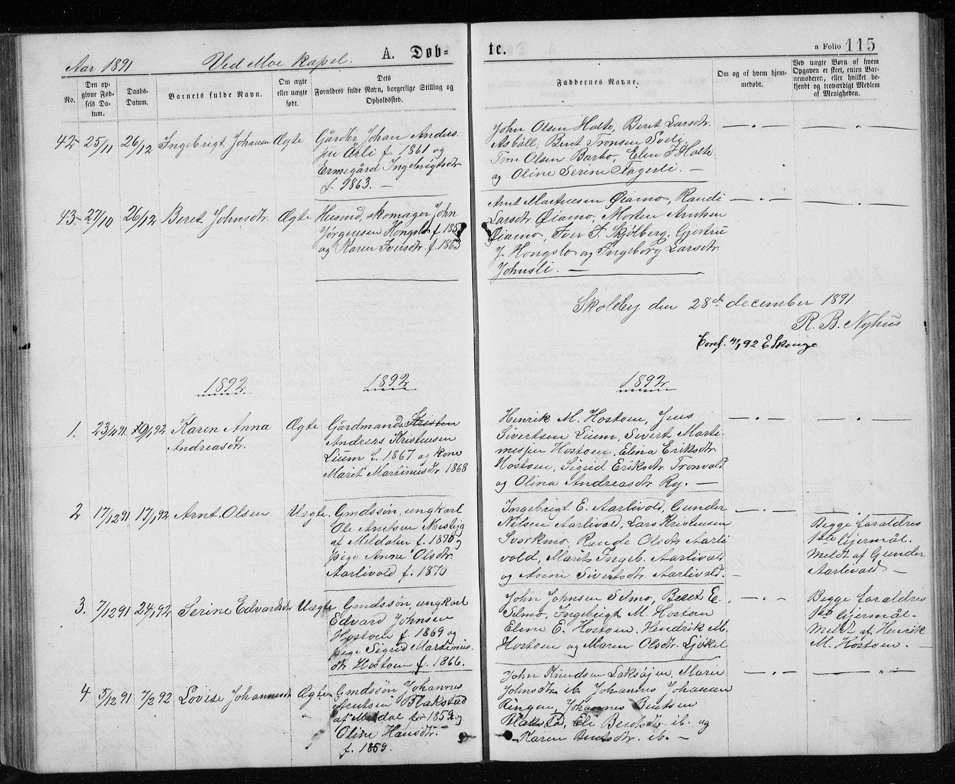 SAT, Ministerialprotokoller, klokkerbøker og fødselsregistre - Sør-Trøndelag, 671/L0843: Klokkerbok nr. 671C02, 1873-1892, s. 115