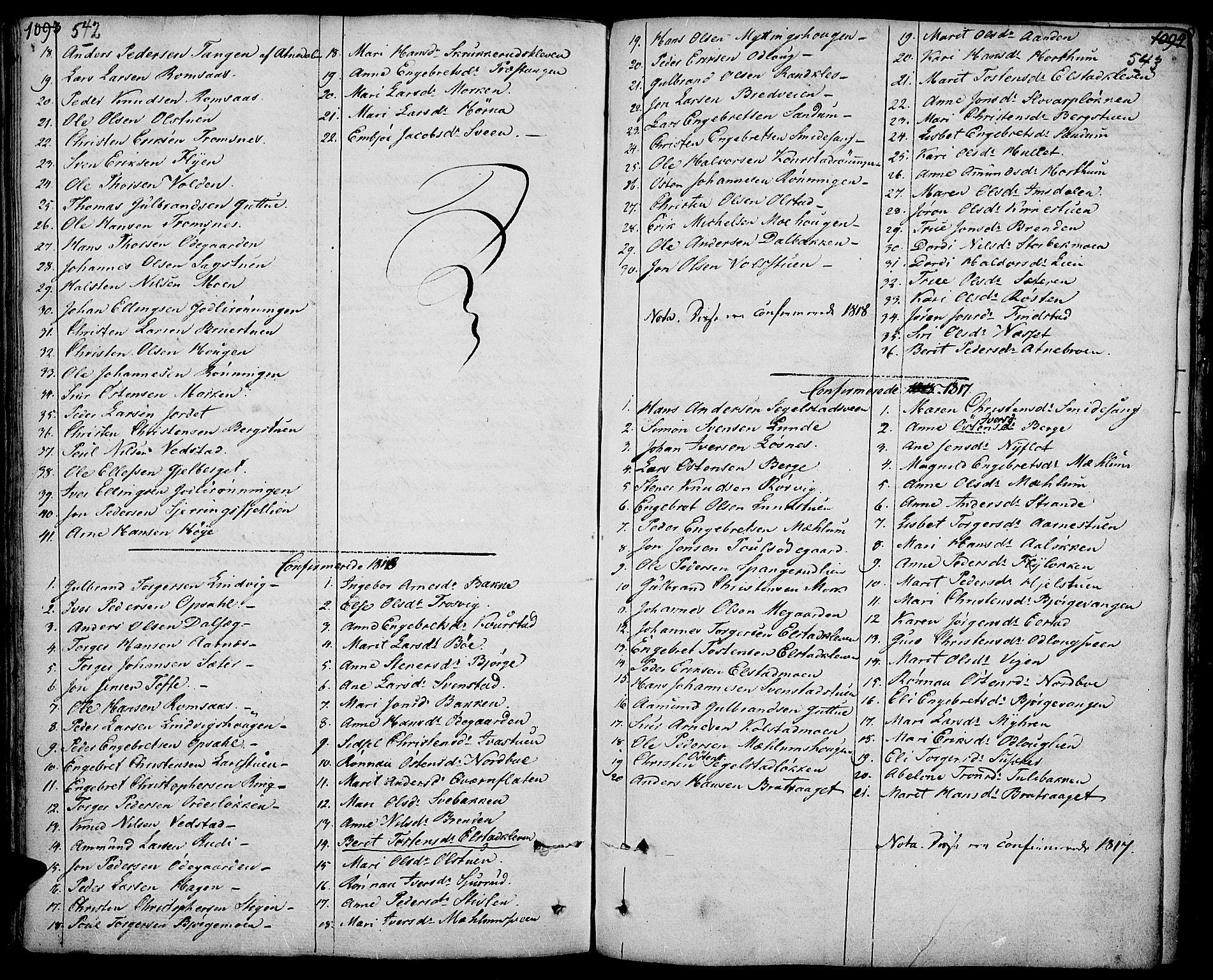 SAH, Ringebu prestekontor, Ministerialbok nr. 3, 1781-1820, s. 542-543