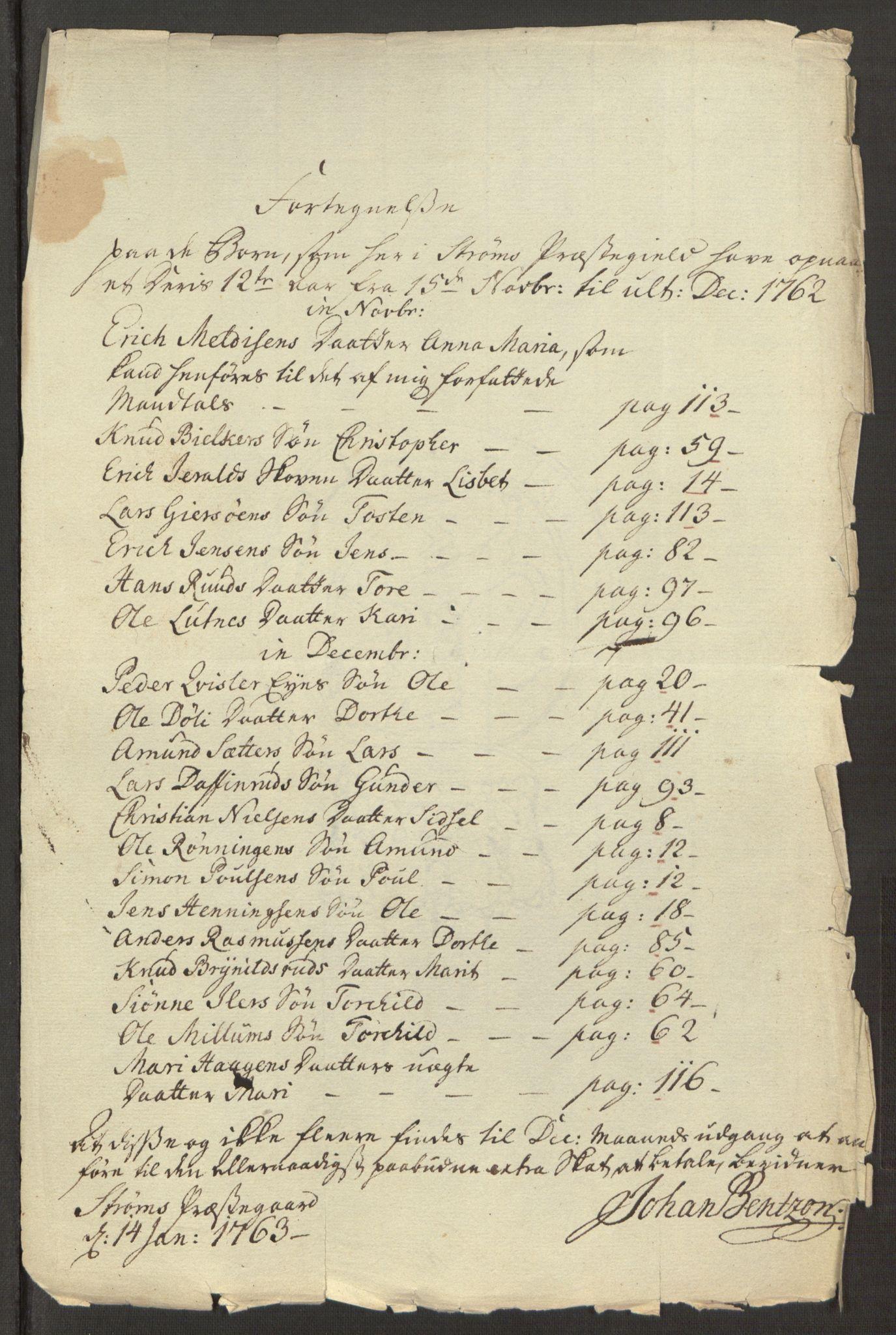 RA, Rentekammeret inntil 1814, Reviderte regnskaper, Fogderegnskap, R15/L1014: Ekstraskatten Østerdal, 1762-1764, s. 454