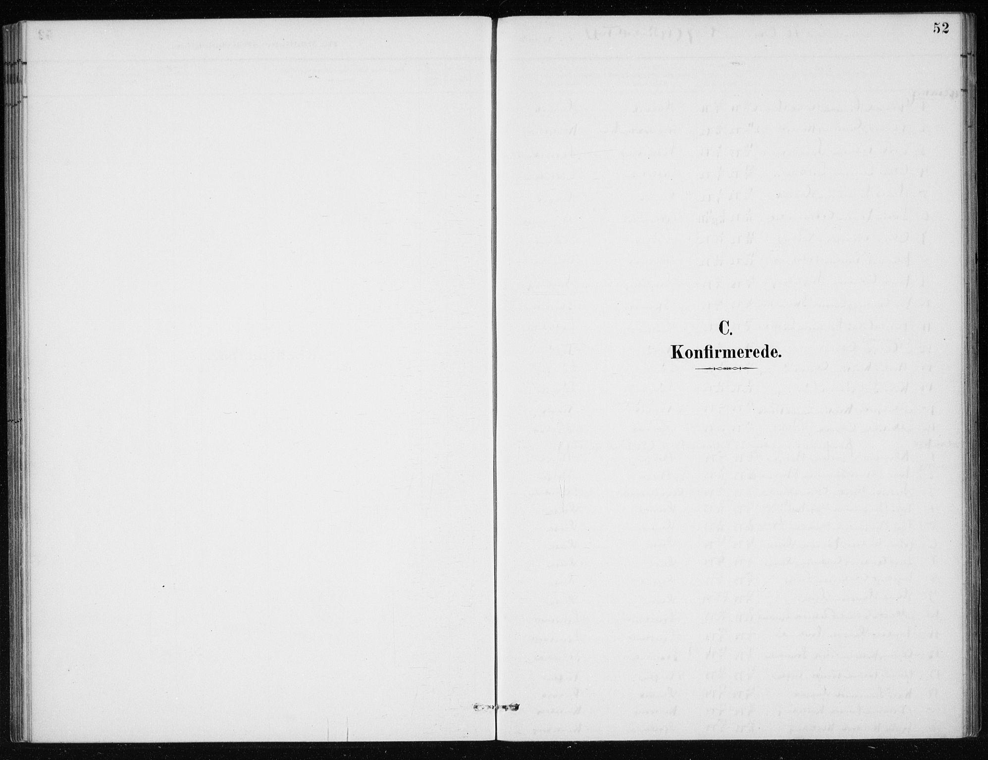 SAB, Kvinnherad Sokneprestembete, H/Haa: Ministerialbok nr. E 1, 1887-1912, s. 52