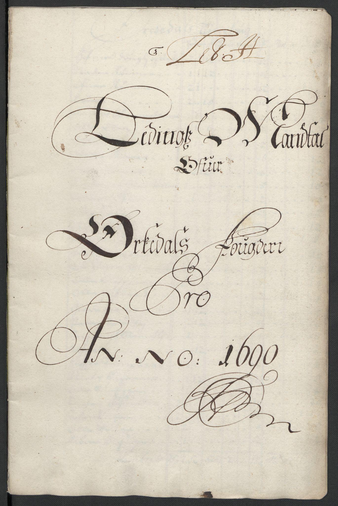 RA, Rentekammeret inntil 1814, Reviderte regnskaper, Fogderegnskap, R58/L3936: Fogderegnskap Orkdal, 1689-1690, s. 380