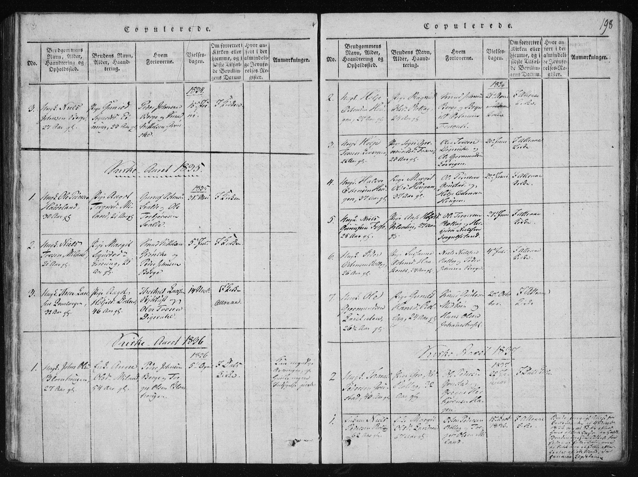 SAKO, Tinn kirkebøker, F/Fb/L0001: Ministerialbok nr. II 1, 1815-1843, s. 198