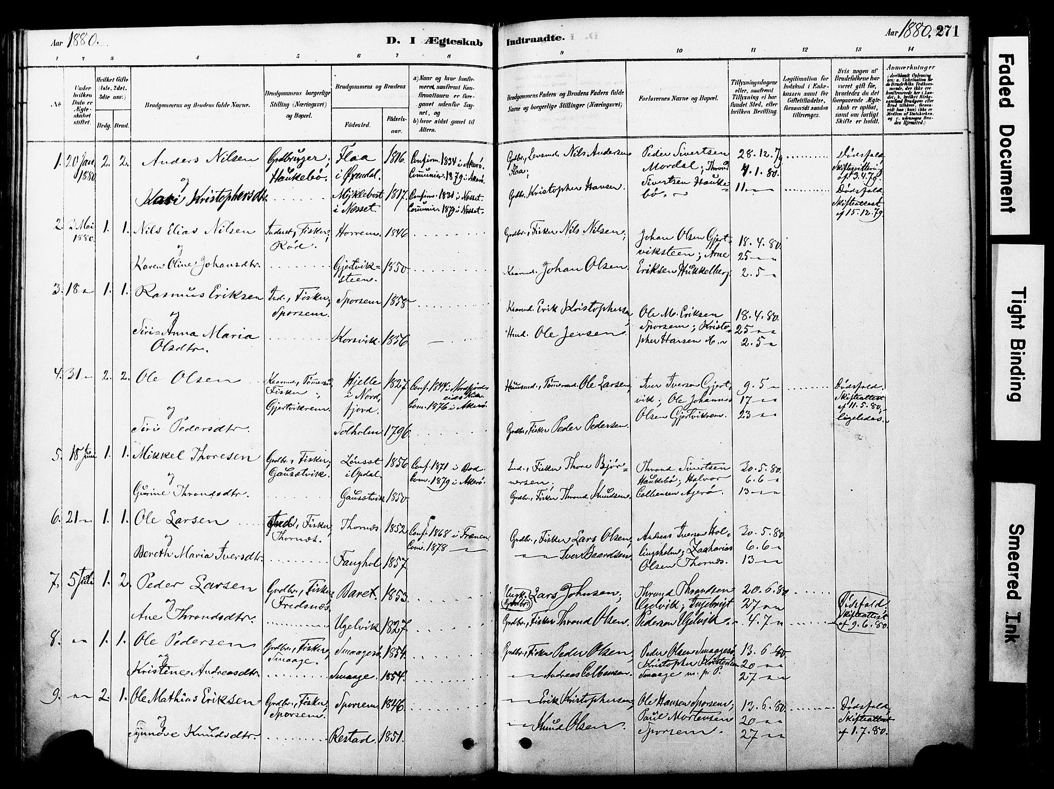 SAT, Ministerialprotokoller, klokkerbøker og fødselsregistre - Møre og Romsdal, 560/L0721: Ministerialbok nr. 560A05, 1878-1917, s. 271
