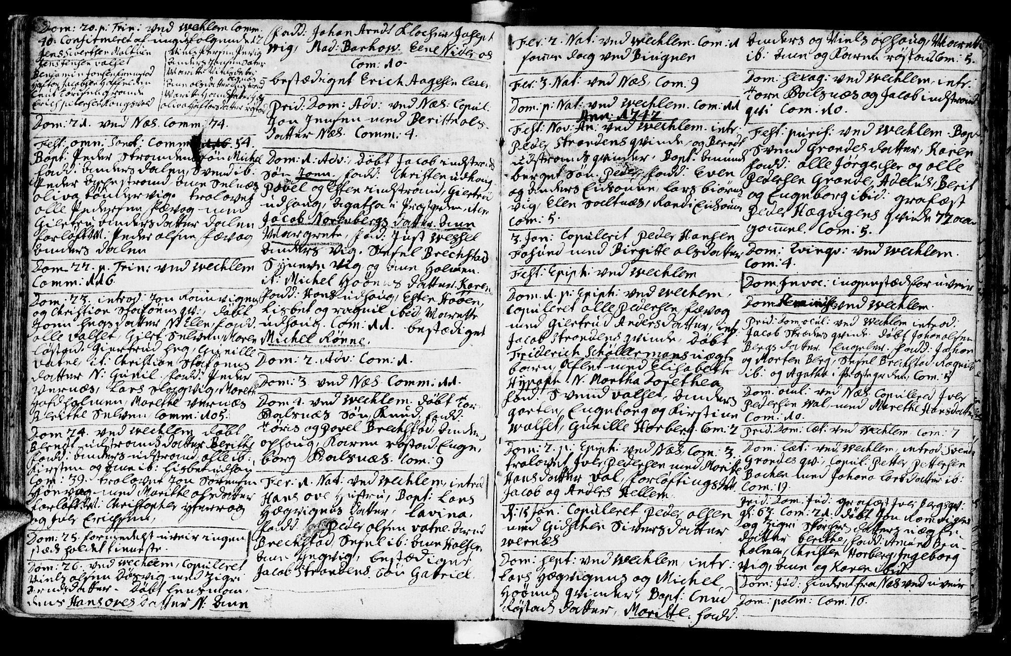 SAT, Ministerialprotokoller, klokkerbøker og fødselsregistre - Sør-Trøndelag, 659/L0732: Ministerialbok nr. 659A02, 1733-1761