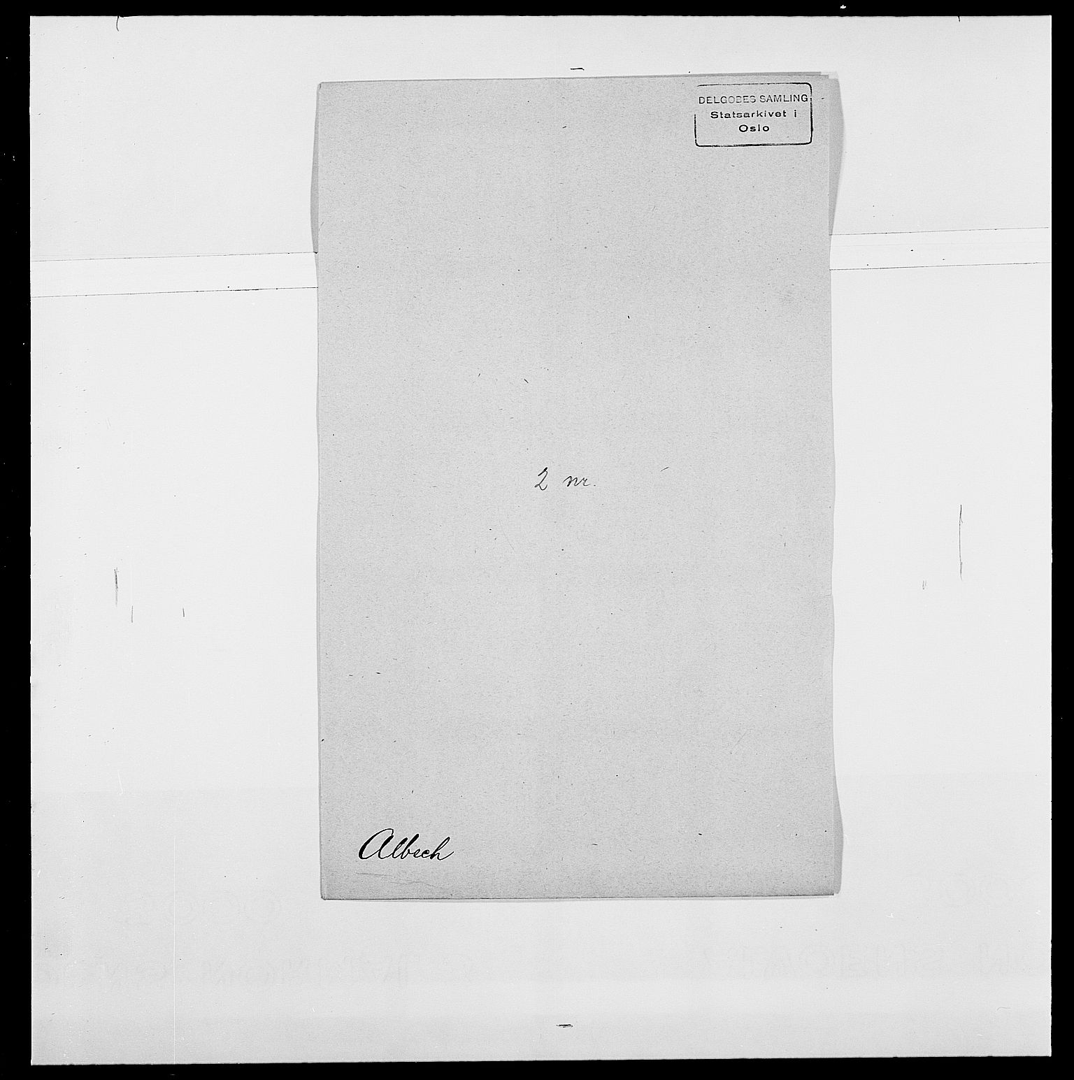 SAO, Delgobe, Charles Antoine - samling, D/Da/L0001: Aabye - Angerman, s. 358
