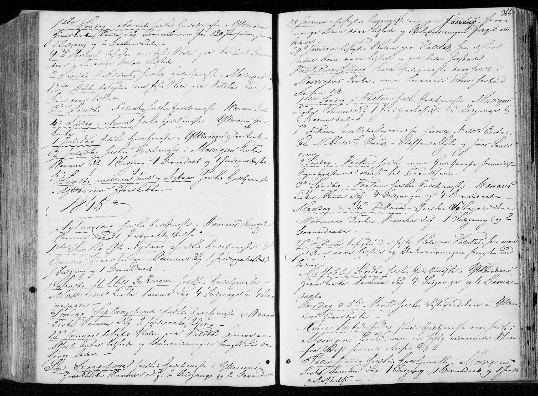 SAT, Ministerialprotokoller, klokkerbøker og fødselsregistre - Nord-Trøndelag, 722/L0218: Ministerialbok nr. 722A05, 1843-1868, s. 366