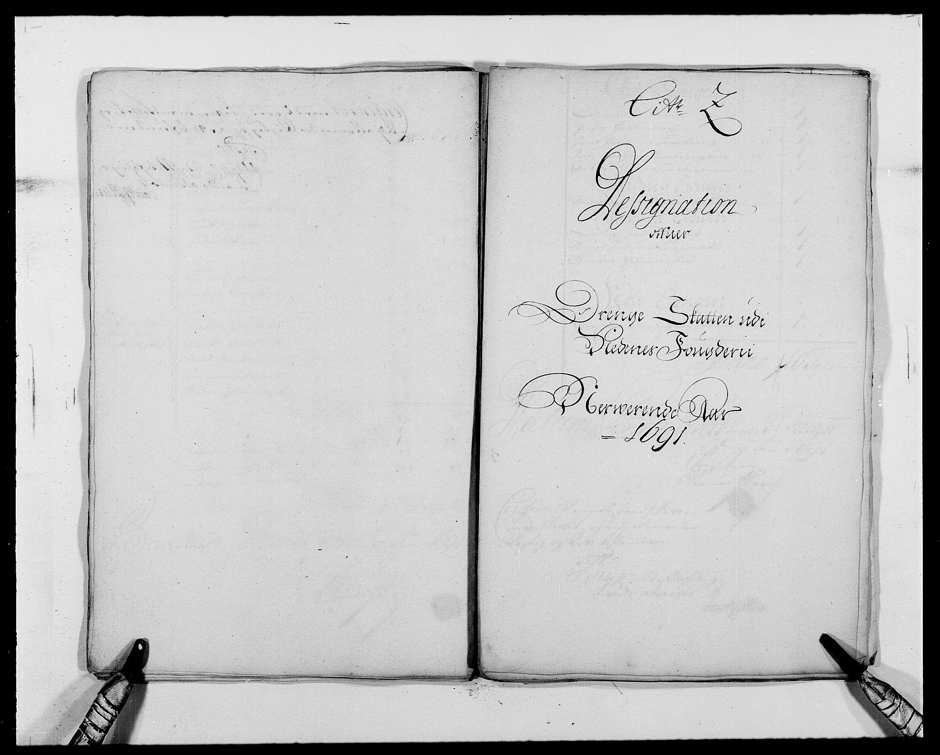 RA, Rentekammeret inntil 1814, Reviderte regnskaper, Fogderegnskap, R39/L2311: Fogderegnskap Nedenes, 1690-1692, s. 99