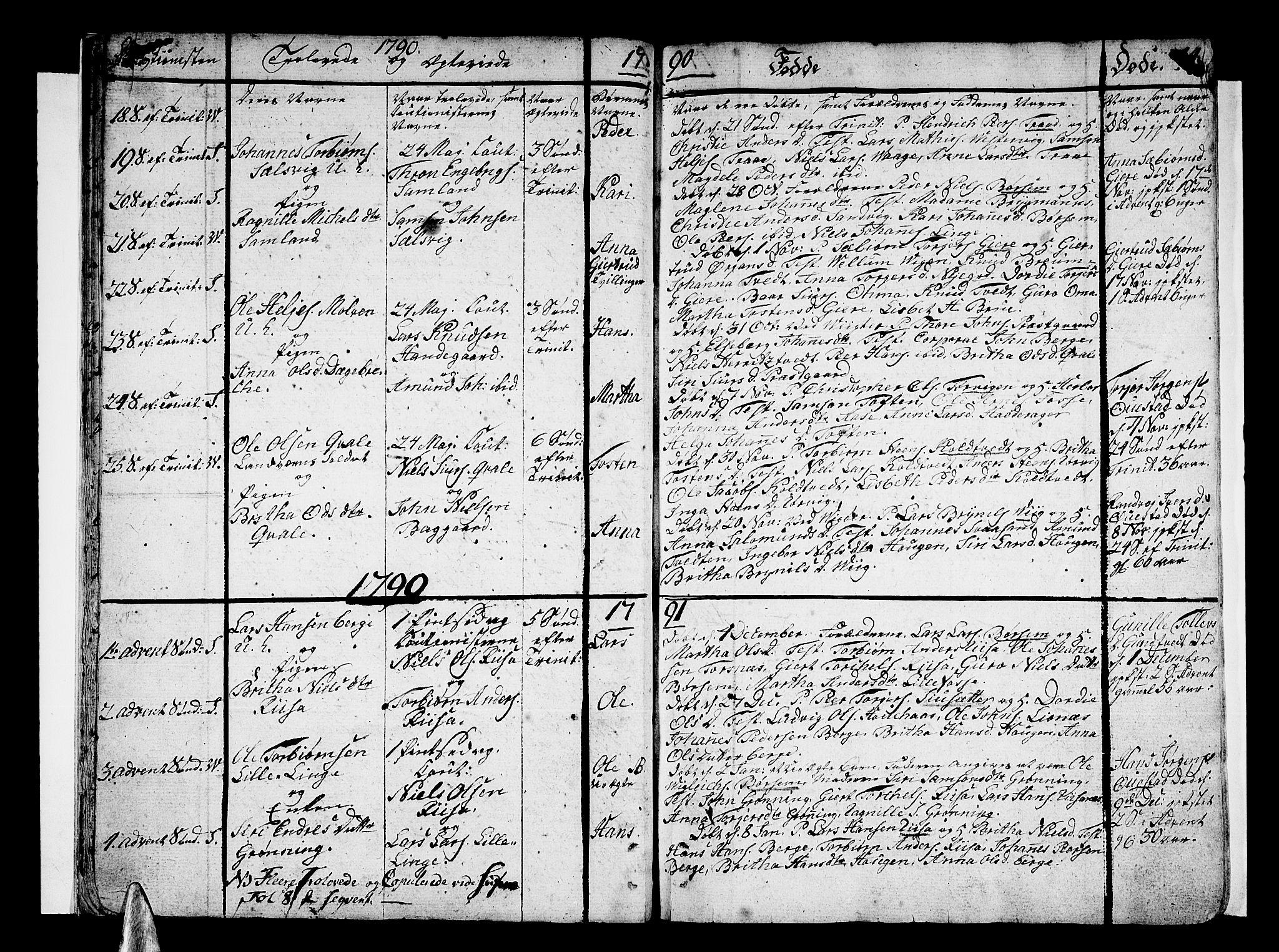 SAB, Strandebarm sokneprestembete, H/Haa: Ministerialbok nr. A 4, 1788-1817, s. 14