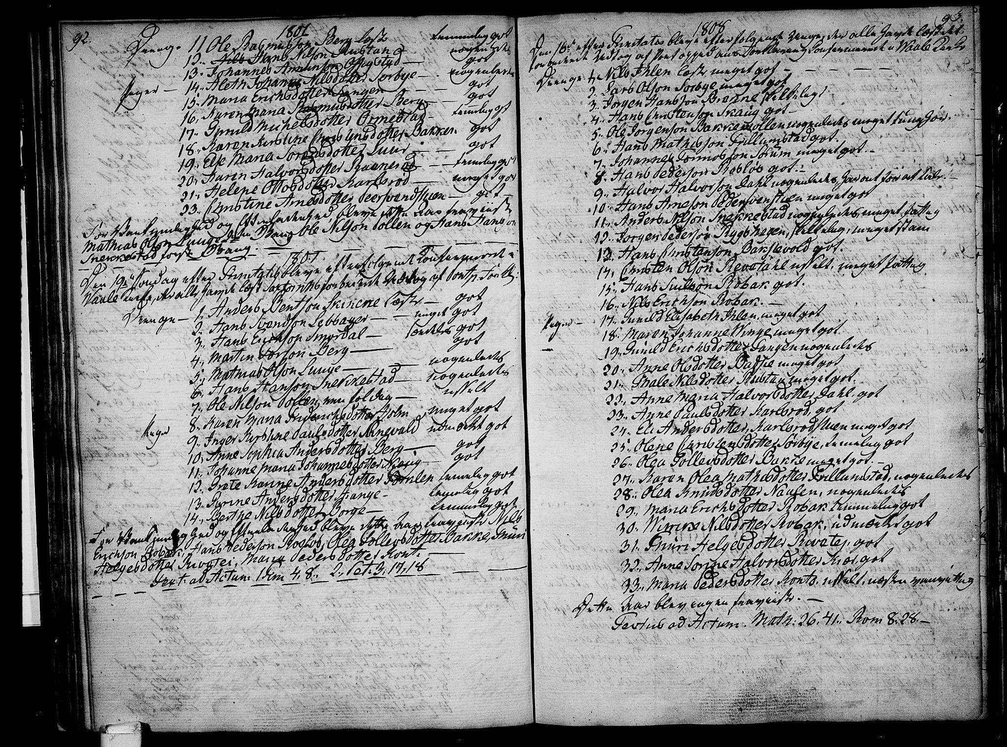SAKO, Våle kirkebøker, F/Fa/L0005: Ministerialbok nr. I 5, 1773-1808, s. 92-93