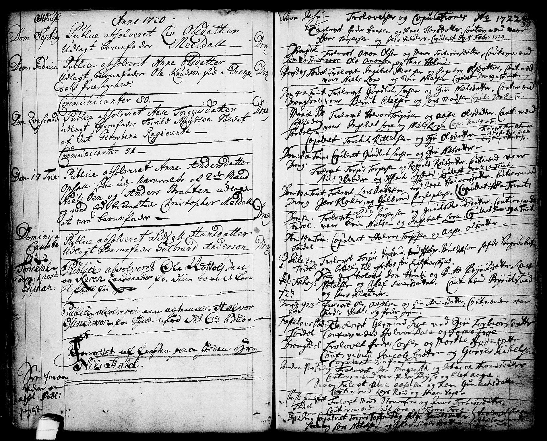 SAKO, Drangedal kirkebøker, F/Fa/L0001: Ministerialbok nr. 1, 1697-1767, s. 53