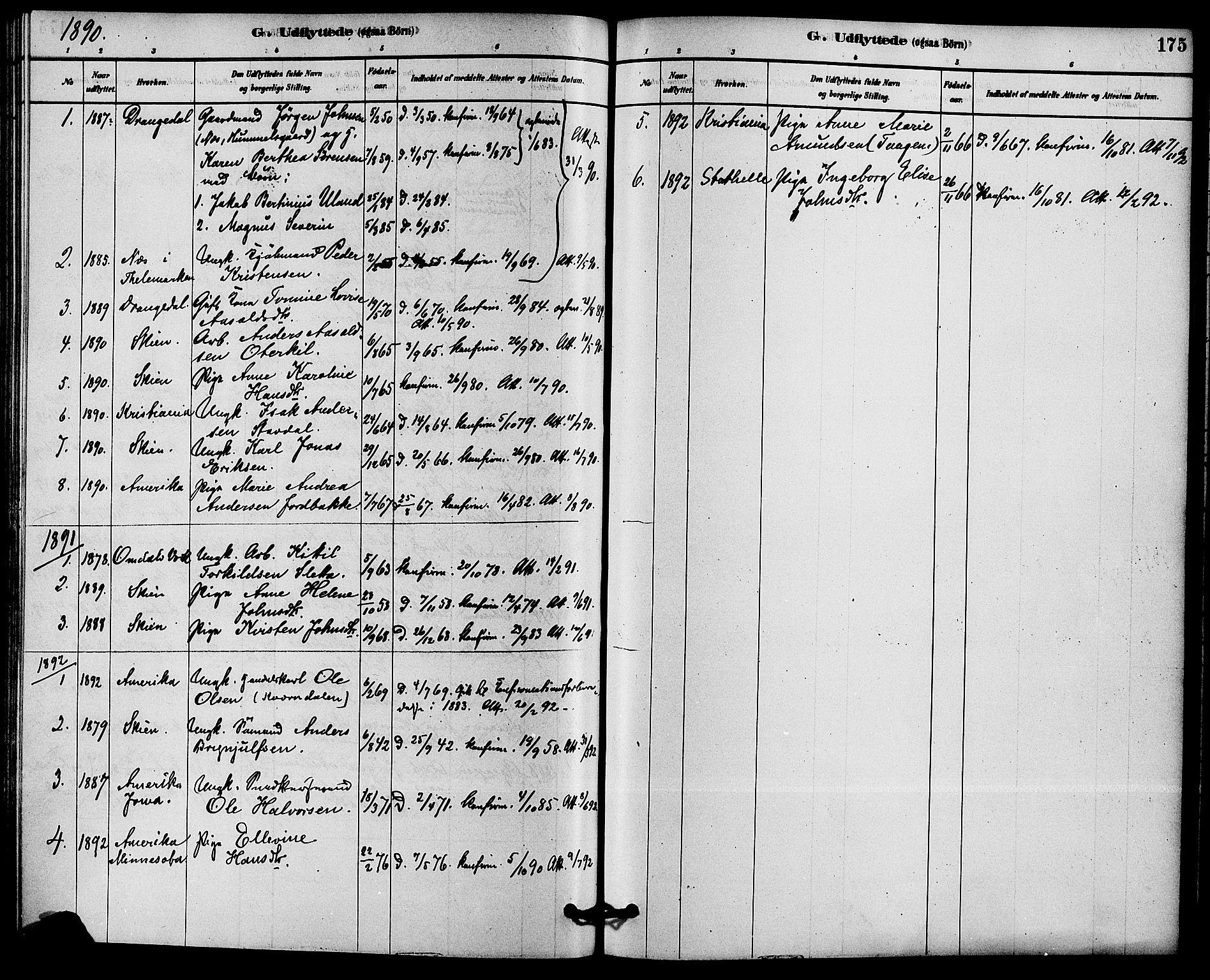 SAKO, Solum kirkebøker, F/Fb/L0001: Ministerialbok nr. II 1, 1877-1892, s. 175