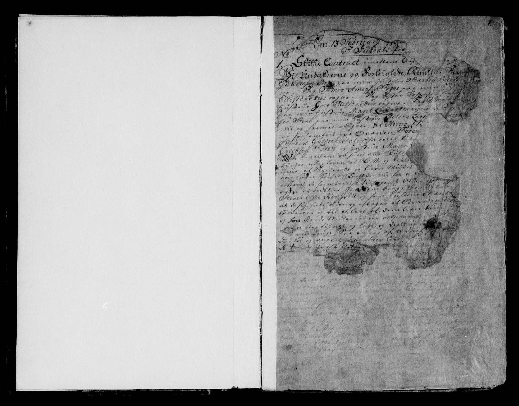 SAH, Sør-Gudbrandsdal sorenskriveri, H/Hb/Hba/L0002: Pantebok nr. I 2, 1738-1788, s. 1