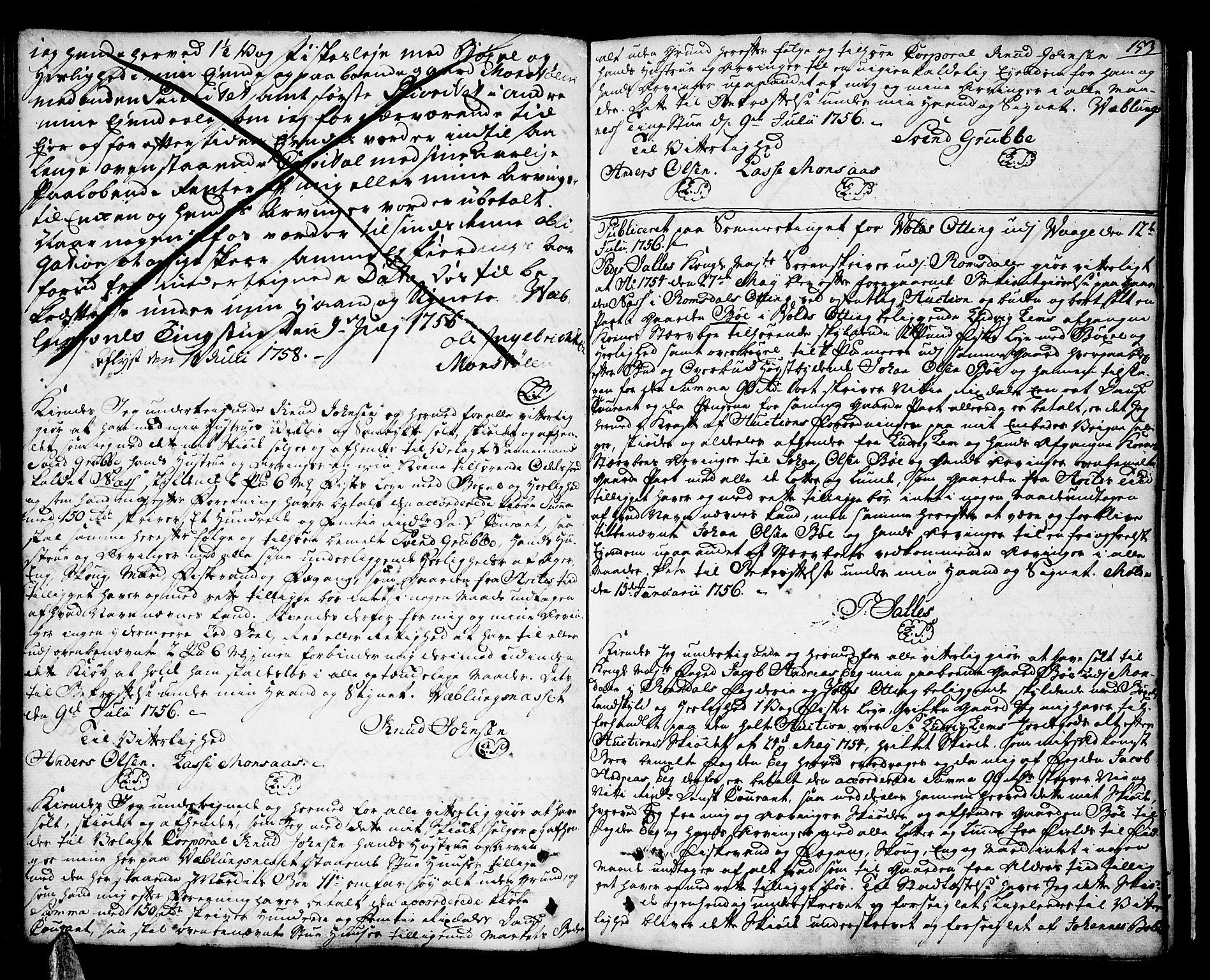 SAT, Romsdal sorenskriveri, 2/2C/L0003: Pantebok nr. 3, 1747-1767, s. 153