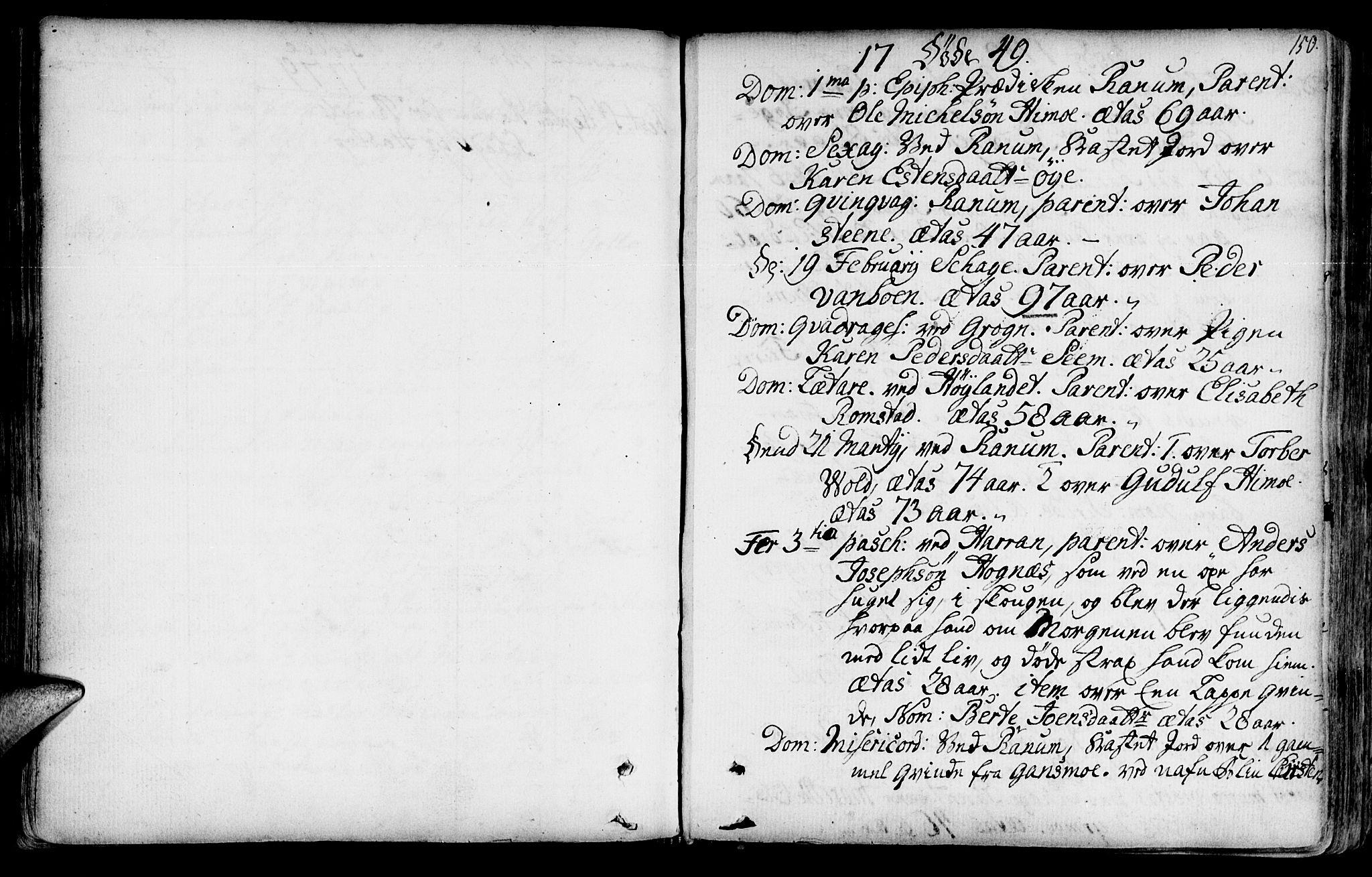 SAT, Ministerialprotokoller, klokkerbøker og fødselsregistre - Nord-Trøndelag, 764/L0542: Ministerialbok nr. 764A02, 1748-1779, s. 150