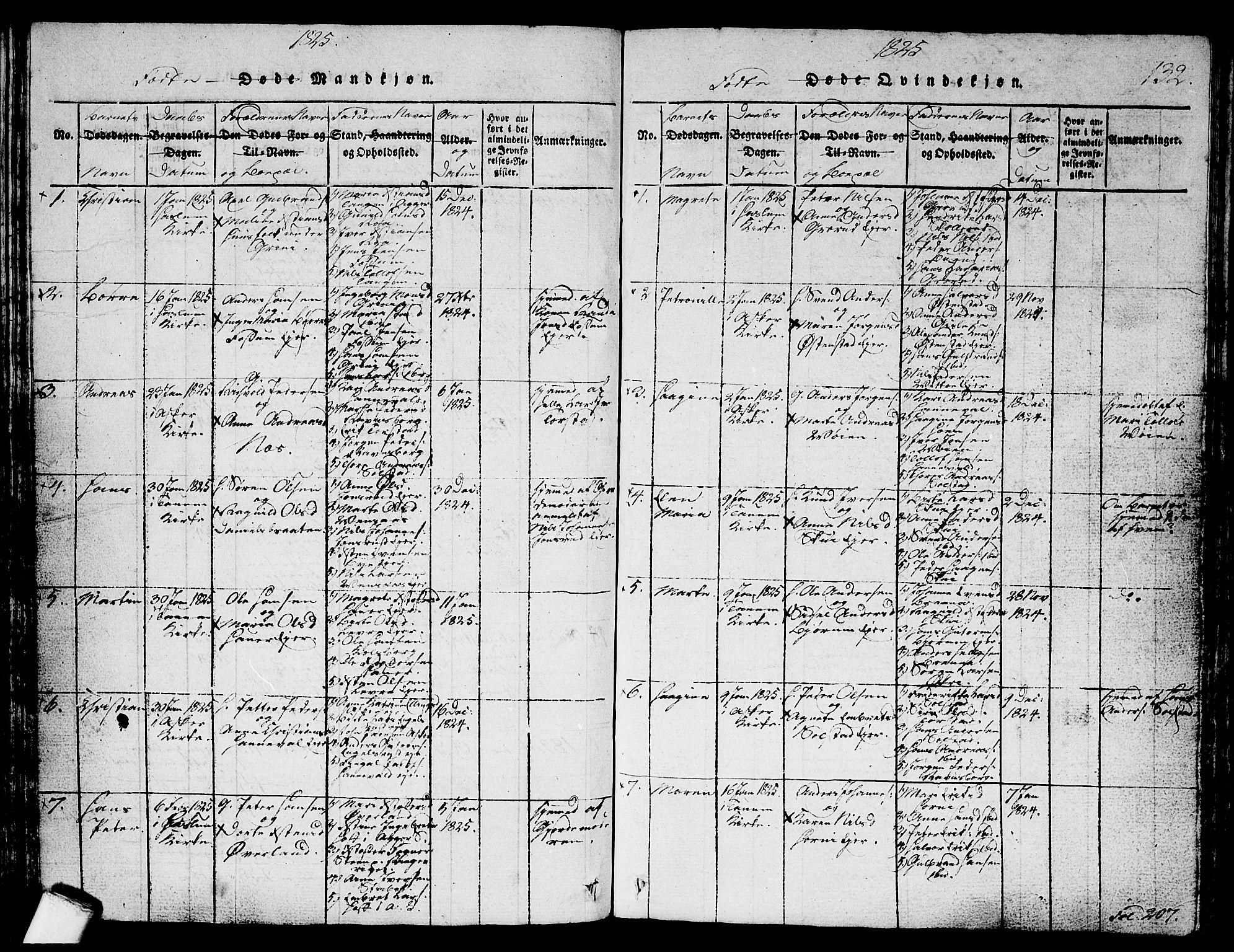 SAO, Asker prestekontor Kirkebøker, G/Ga/L0001: Klokkerbok nr. I 1, 1814-1830, s. 132