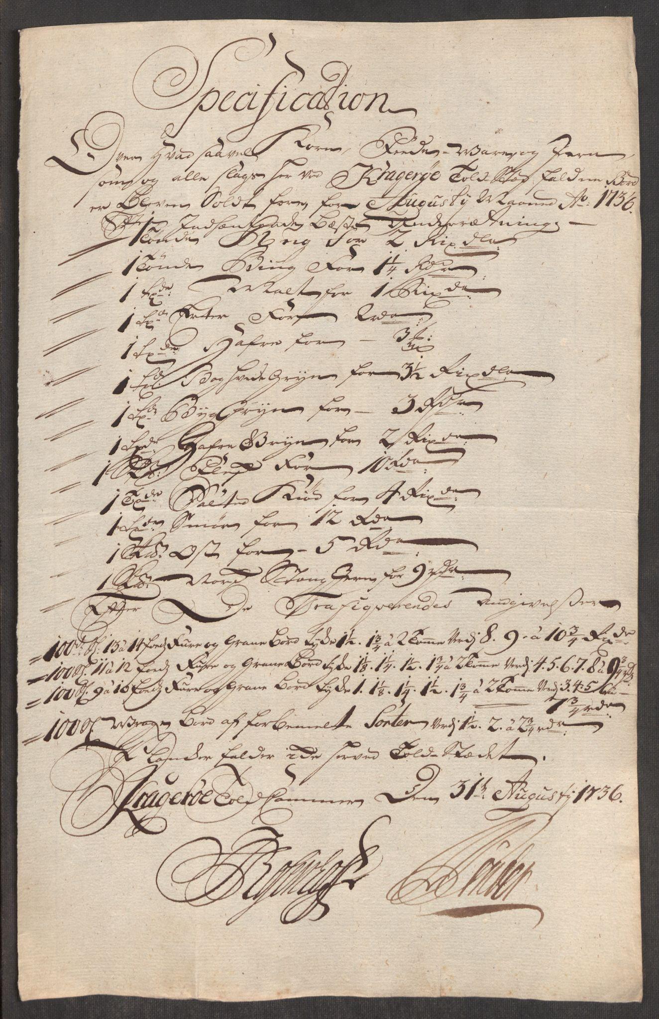 RA, Rentekammeret inntil 1814, Realistisk ordnet avdeling, Oe/L0001: [Ø1]: Priskuranter, 1712-1739, s. 393