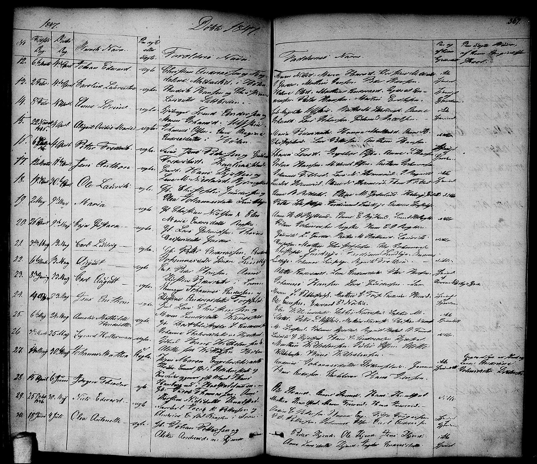 SAO, Vestby prestekontor Kirkebøker, F/Fa/L0006: Ministerialbok nr. I 6, 1827-1849, s. 367