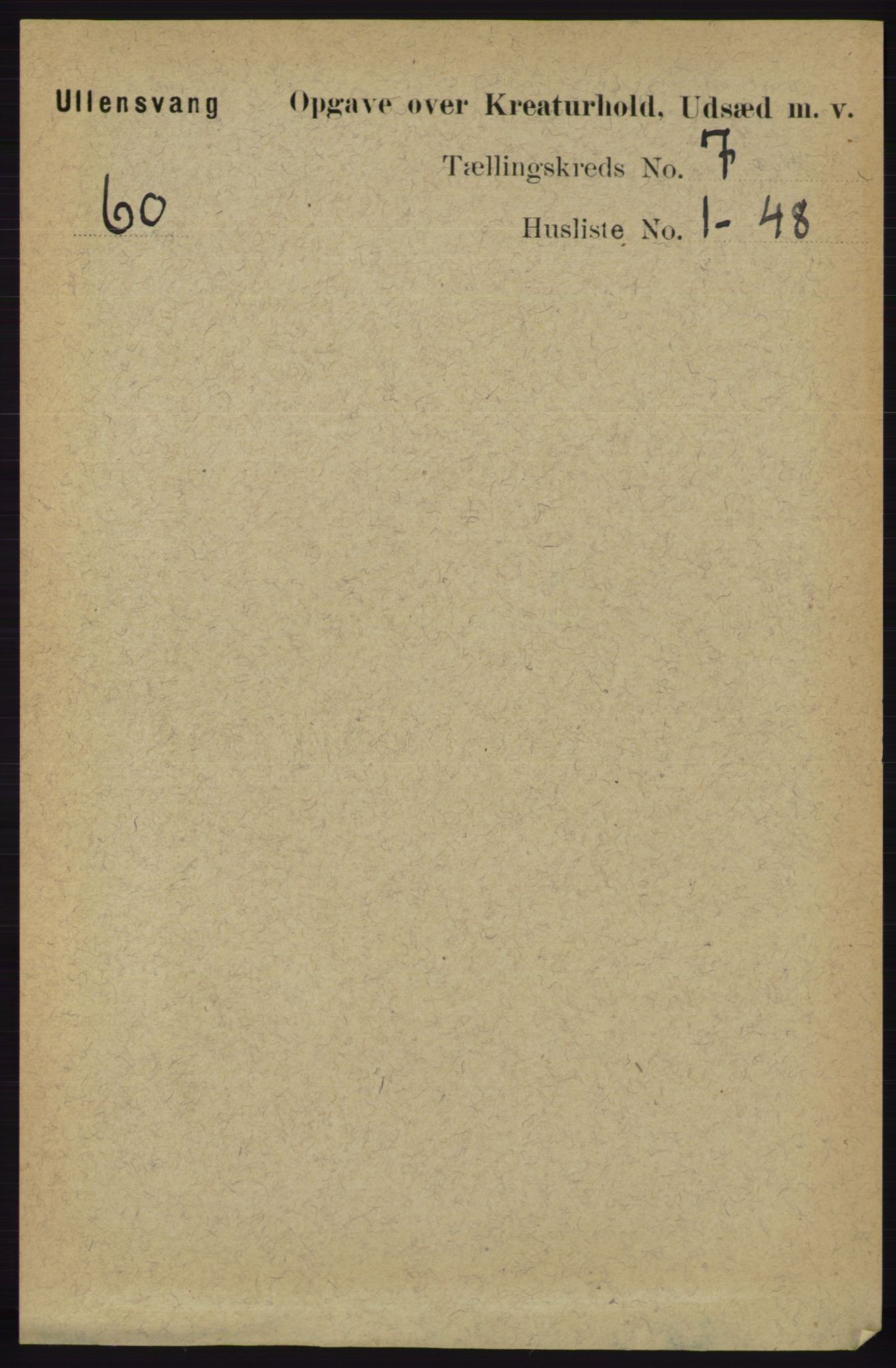 RA, Folketelling 1891 for 1230 Ullensvang herred, 1891, s. 7332