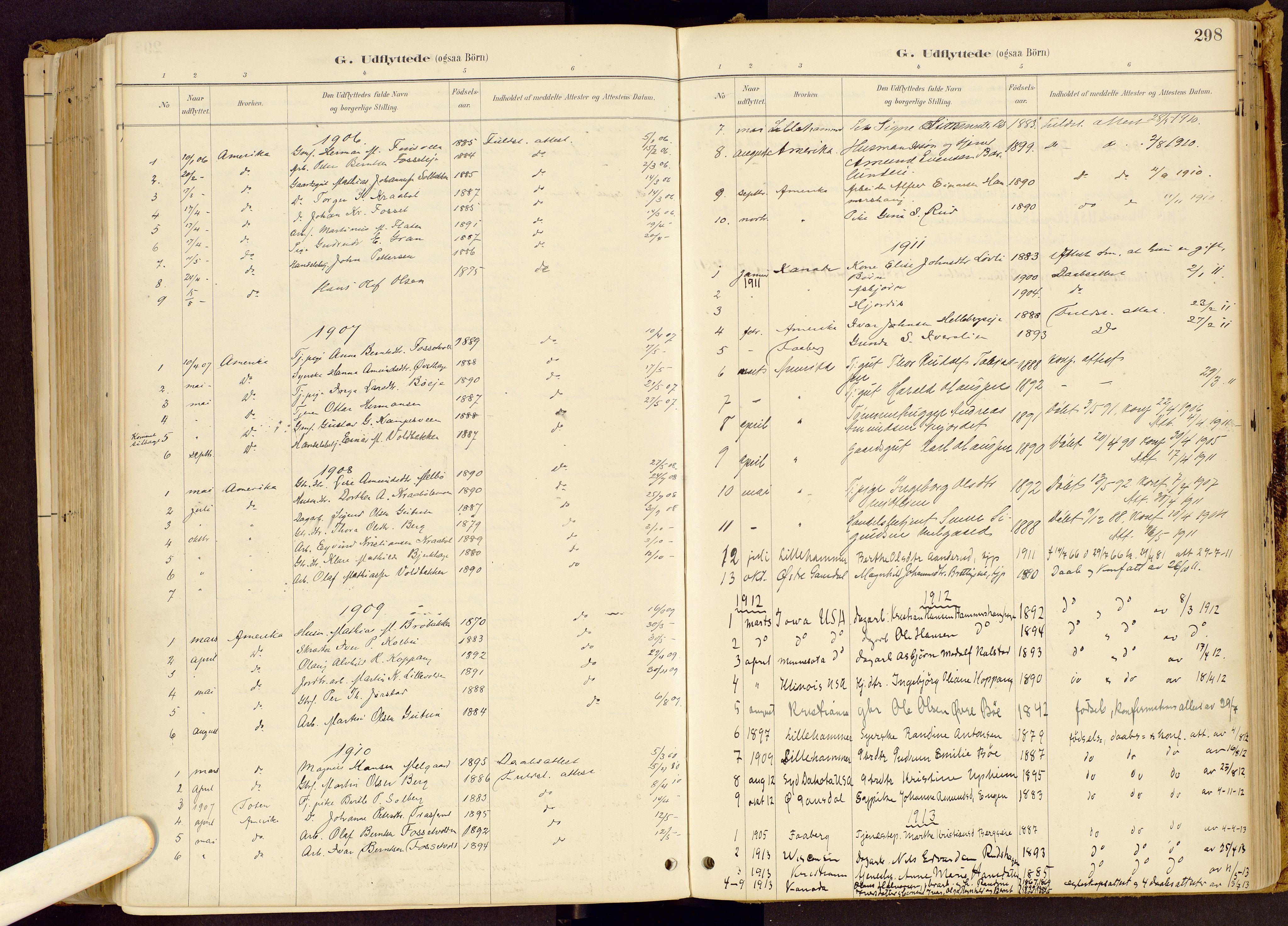 SAH, Vestre Gausdal prestekontor, Ministerialbok nr. 1, 1887-1914, s. 298