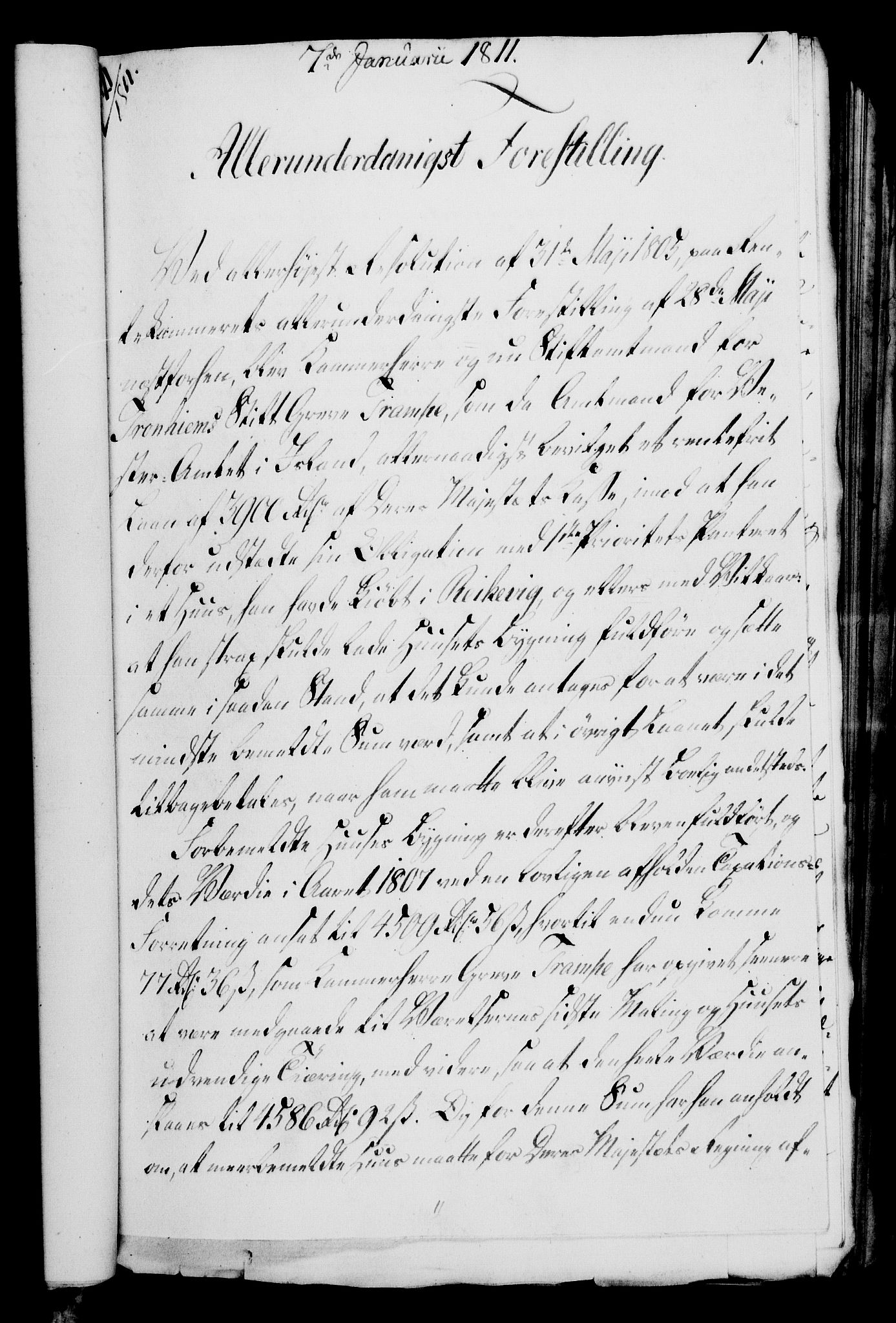 RA, Rentekammeret, Kammerkanselliet, G/Gf/Gfa/L0093: Norsk relasjons- og resolusjonsprotokoll (merket RK 52.93), 1811, s. 30