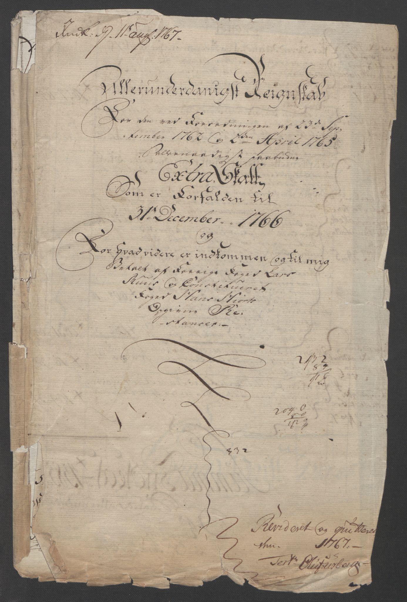 RA, Rentekammeret inntil 1814, Reviderte regnskaper, Fogderegnskap, R14/L0959: Ekstraskatten Solør og Odal, 1763-1770, s. 525