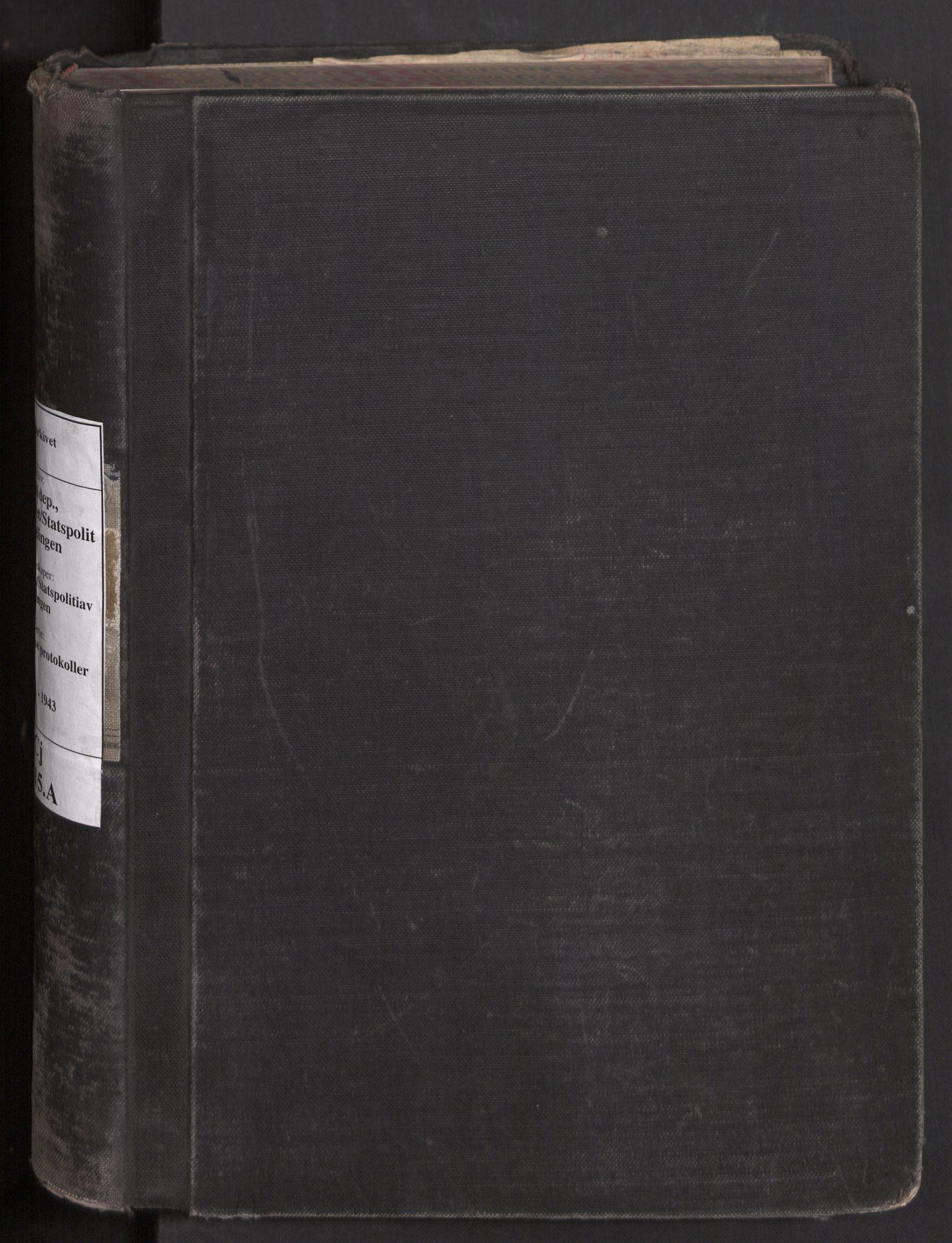 RA, Statspolitiet - Hovedkontoret / Osloavdelingen, C/Cj/L0015A: Fengslingsjournal, 1941-1943